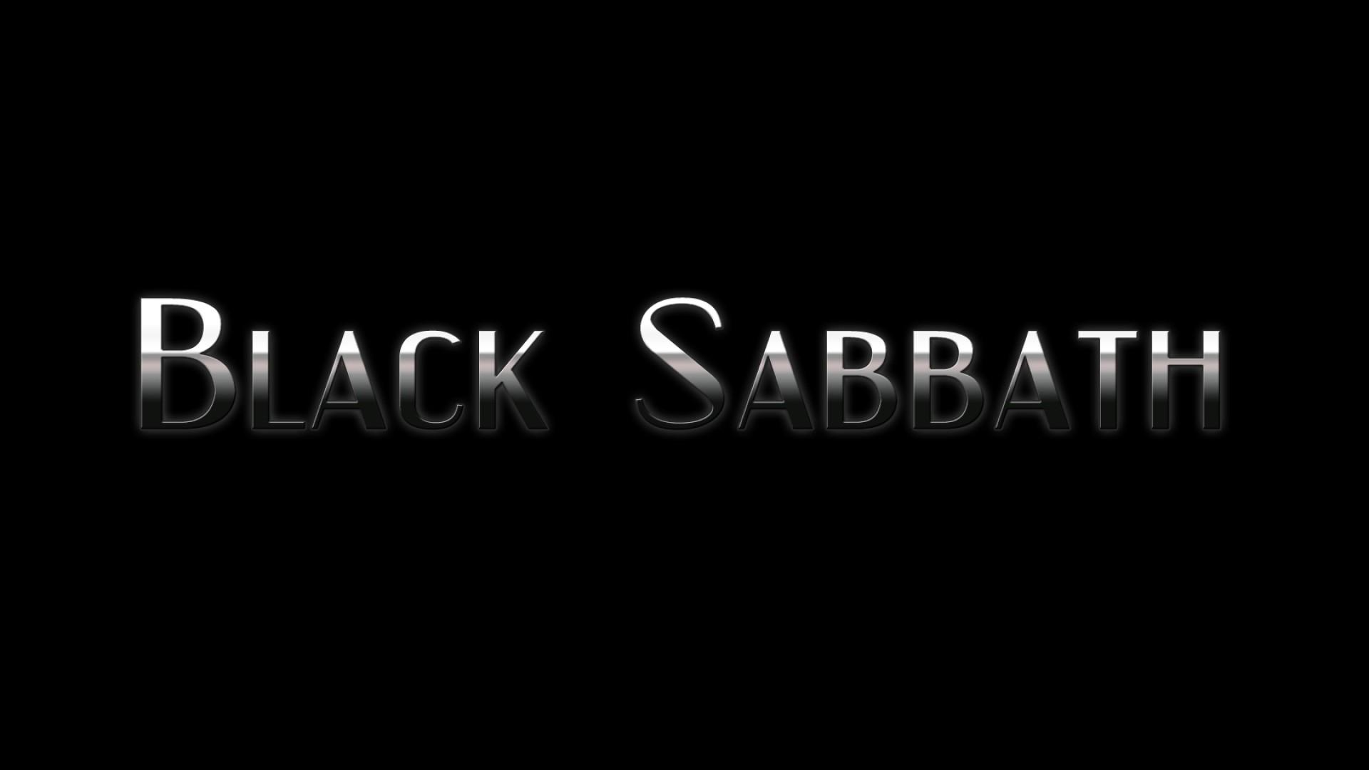 Preview wallpaper black sabbath, font, background, name, light 1920×1080