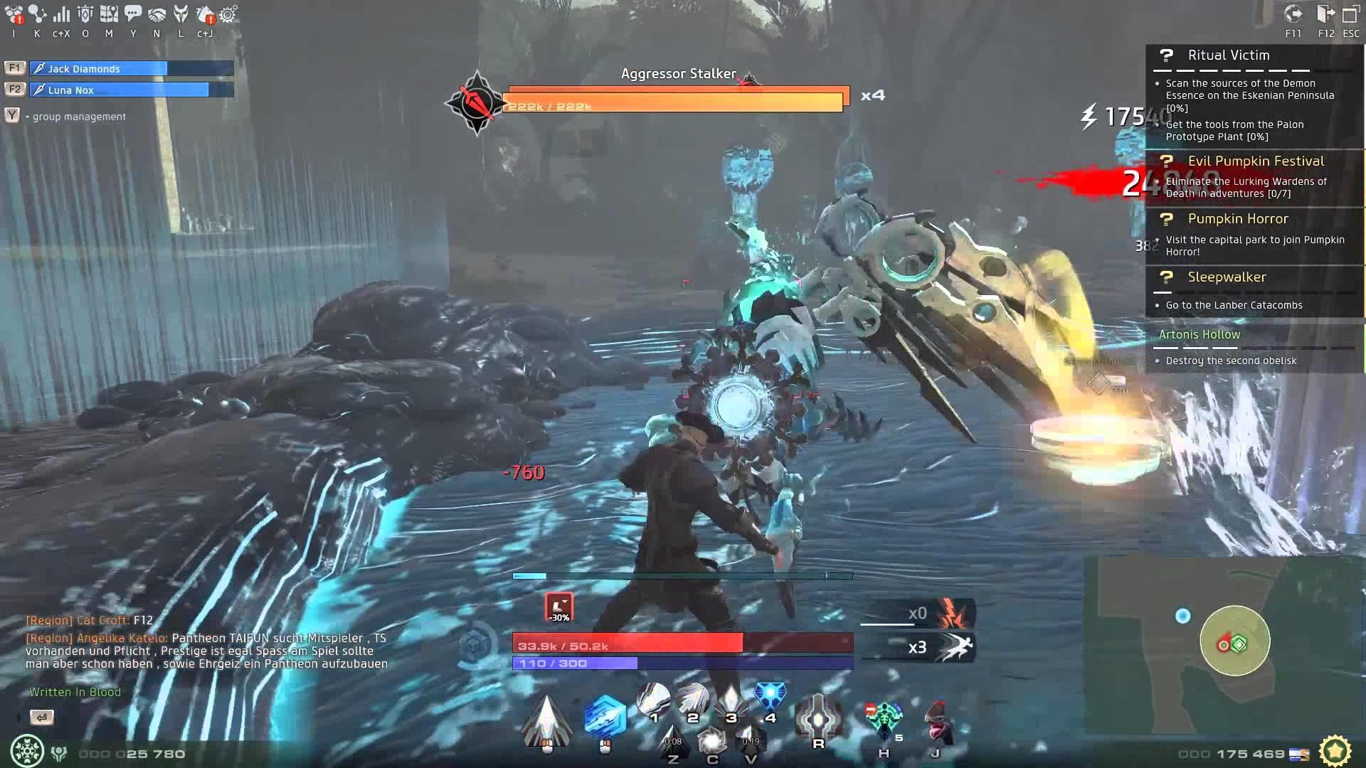 Skyforge – Gameplay Artoni's Hollow Squad by 16K prestige Cryomancer (1080p  HD)