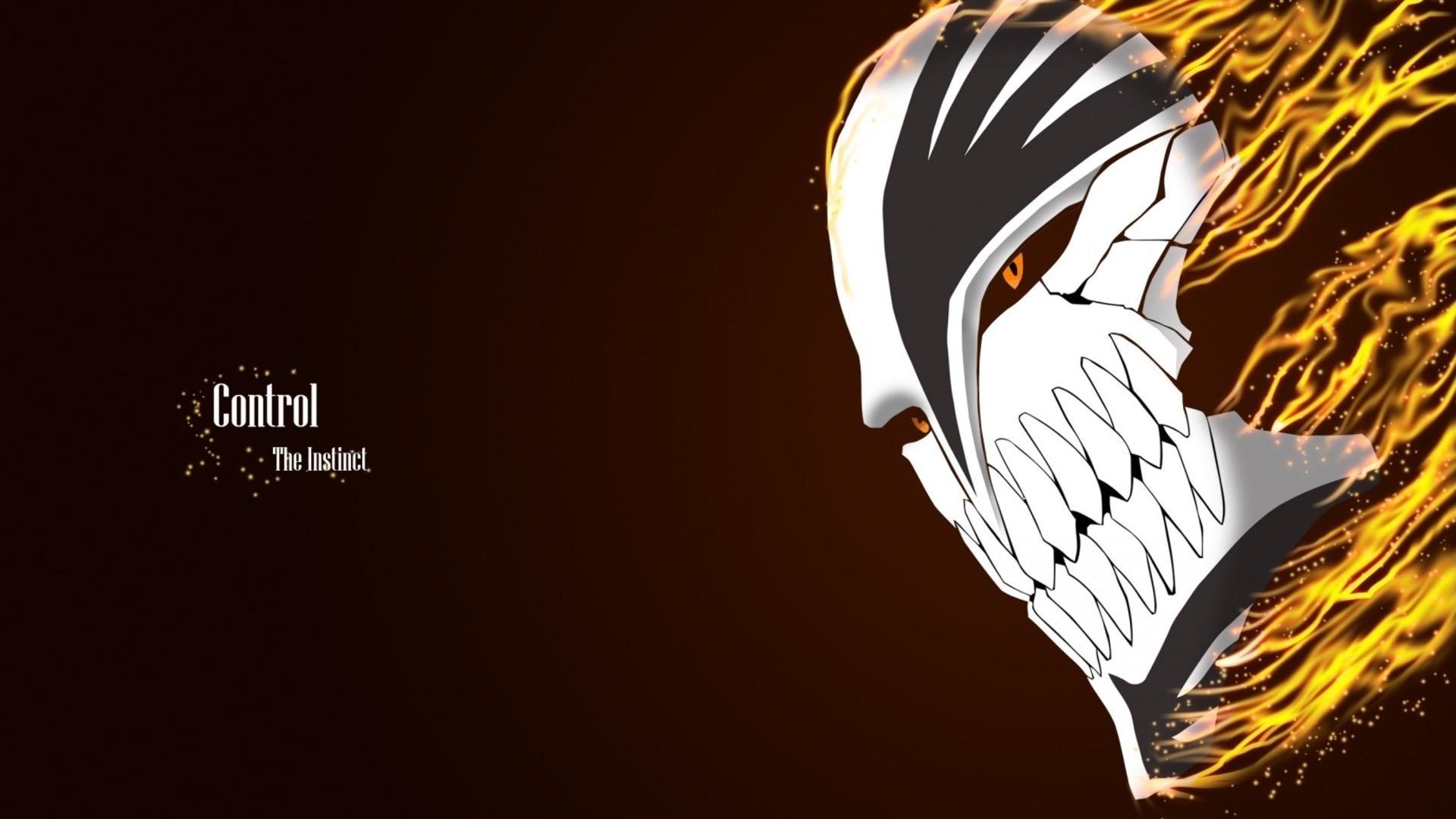 hollow mask ichigo kurosaki bleach anime hd wallpaper full resolution .