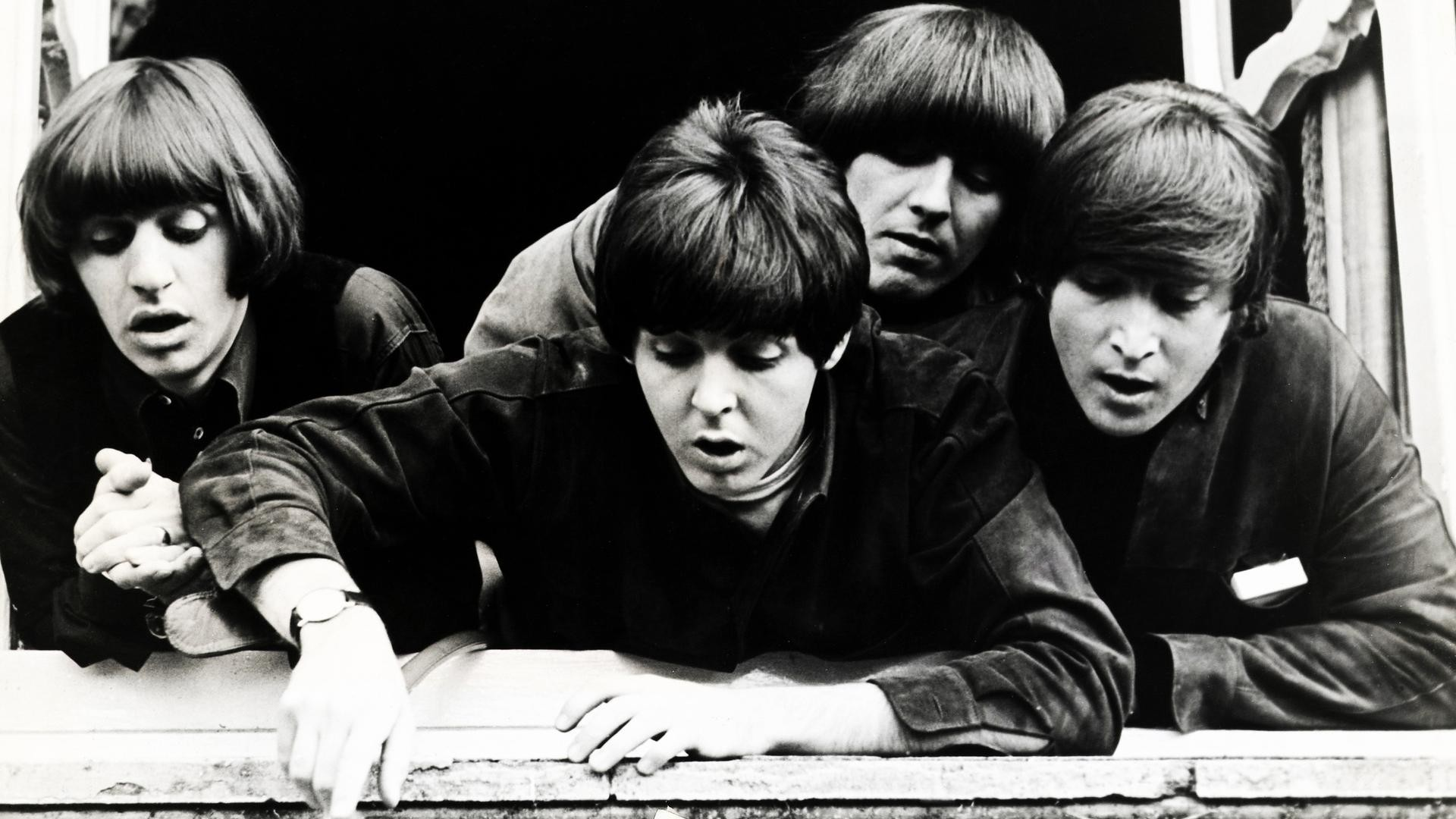 The Beatles Monochrome Paul McCartney John Lennon George Harrison Ringo  Starr
