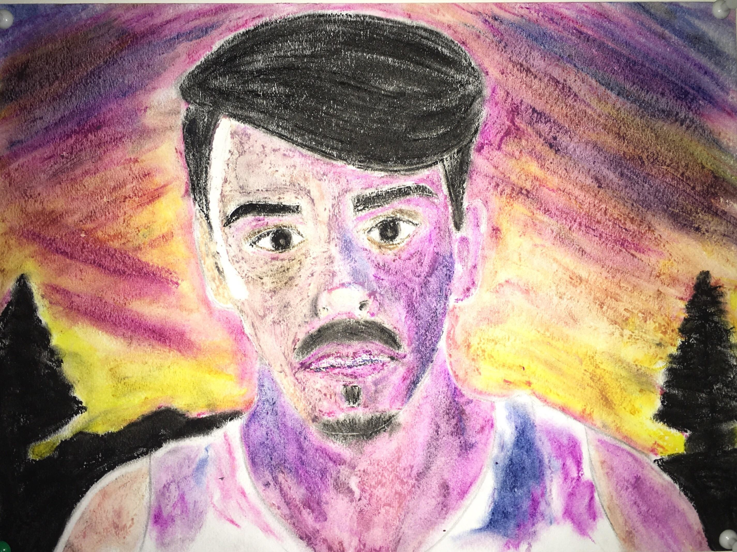 My face in the style of Acid Rap …