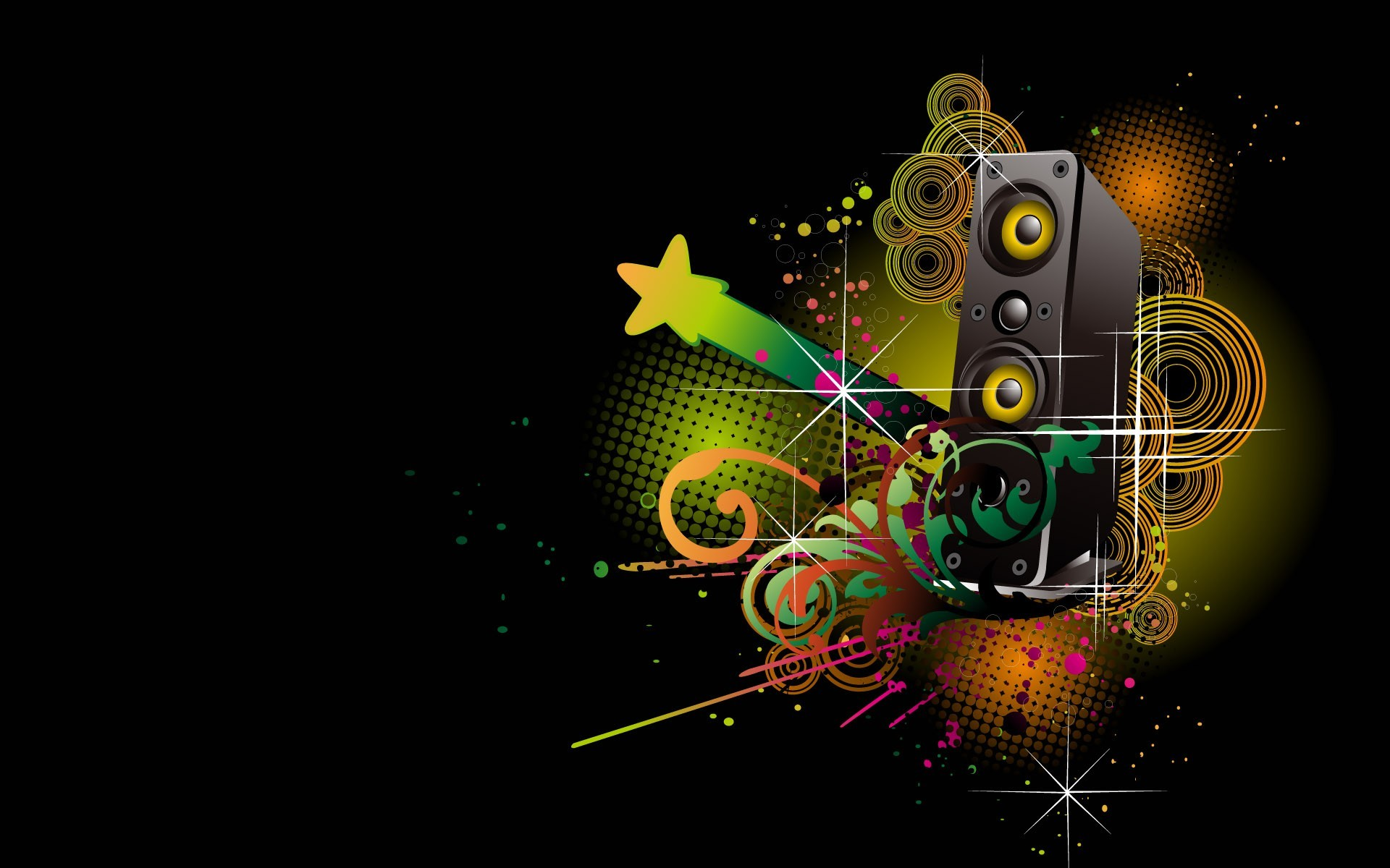 Abstract Music Wallpaper Abstract, Music, Colorful, Digital .