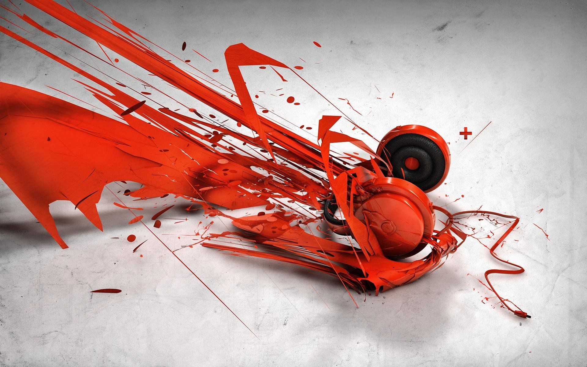 wallpaper.wiki-Red-Abstract-Headphone-Music-Wallpaper-PIC-