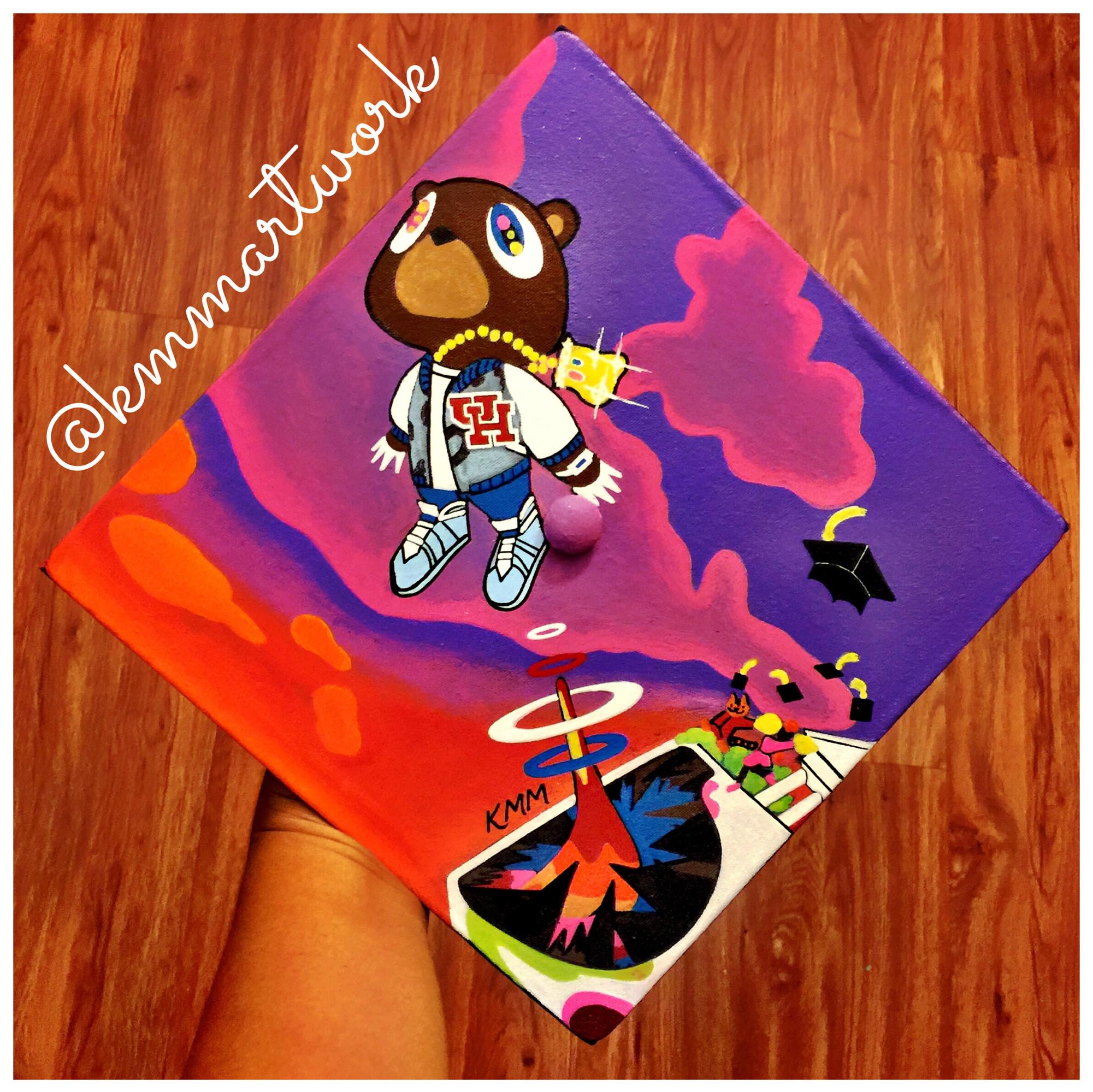 Graduation Cap – Kanye West Graduation Album Cover – University of Houston  – KMM Artwork –