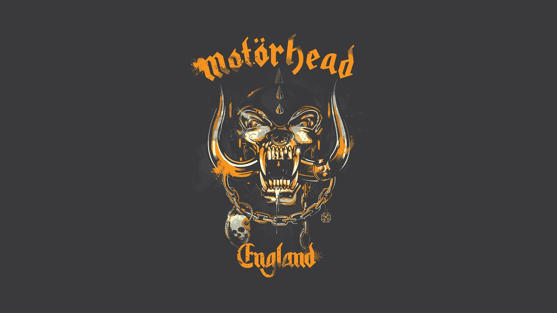 Yellow tone Motorhead logo hd wallpaper background – HD Wallpapers
