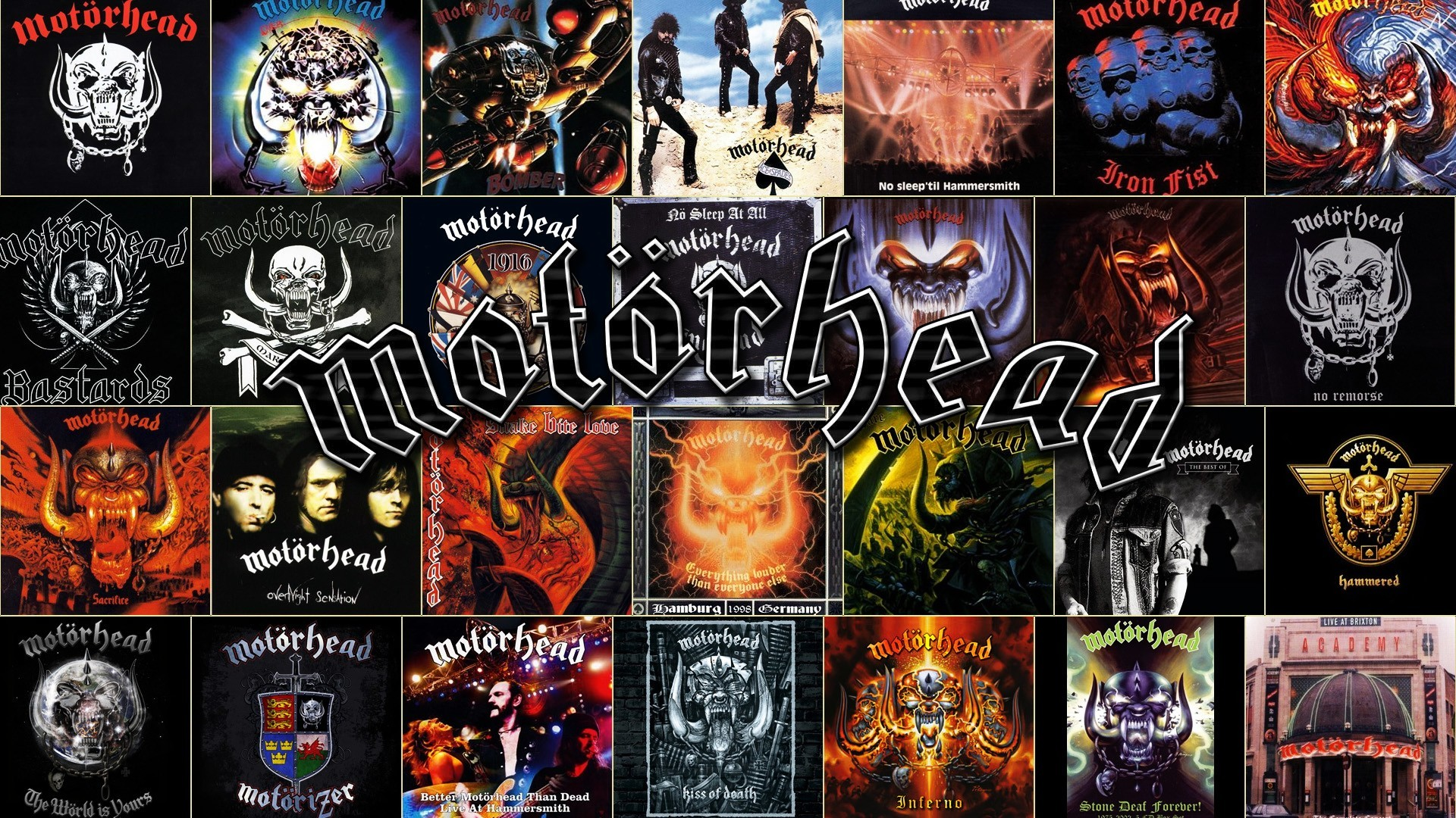 MOTORHEAD heavy metal hard rock collage q wallpaper