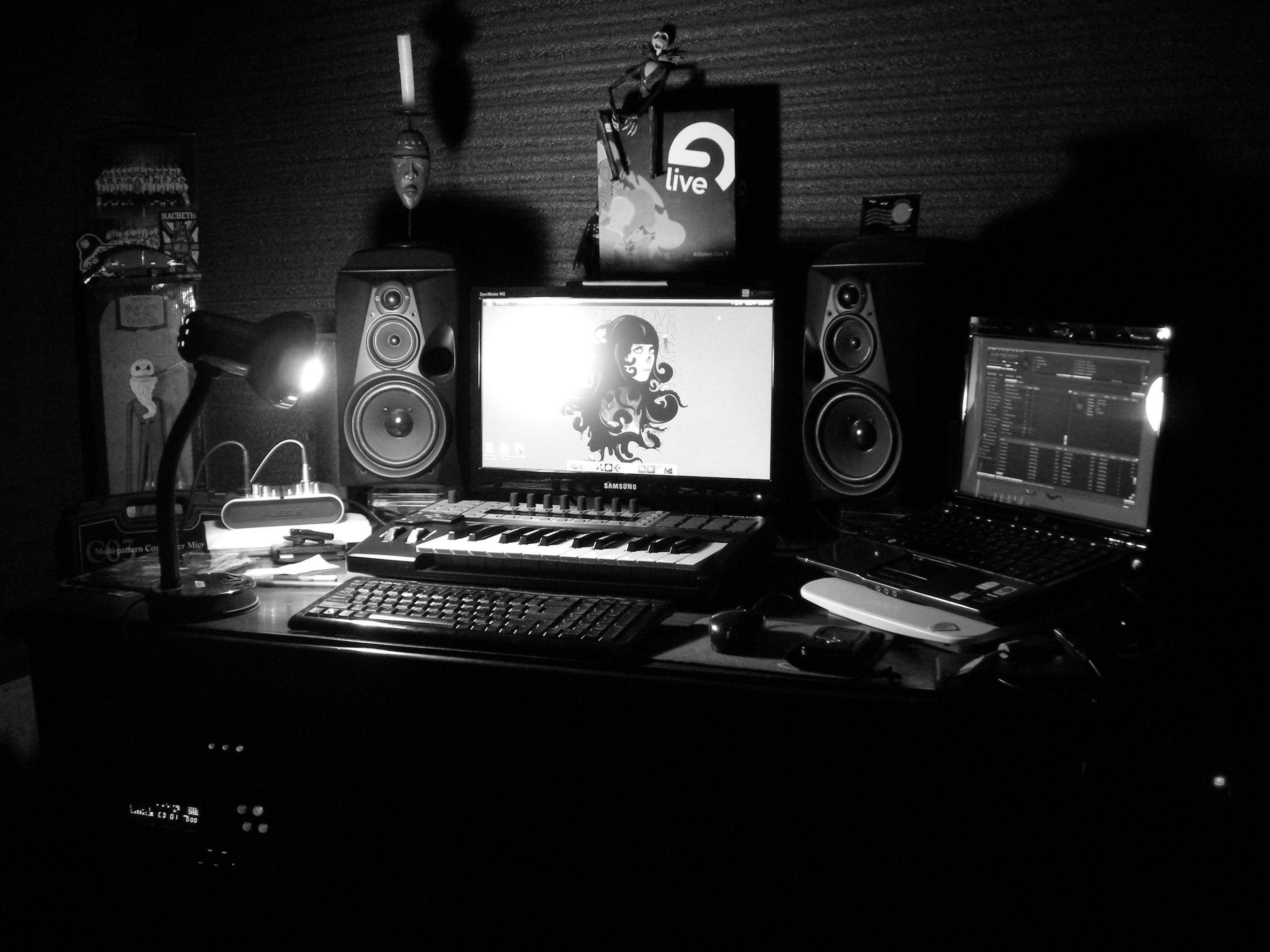 Wallpapers For > Home Recording Studio Wallpaper