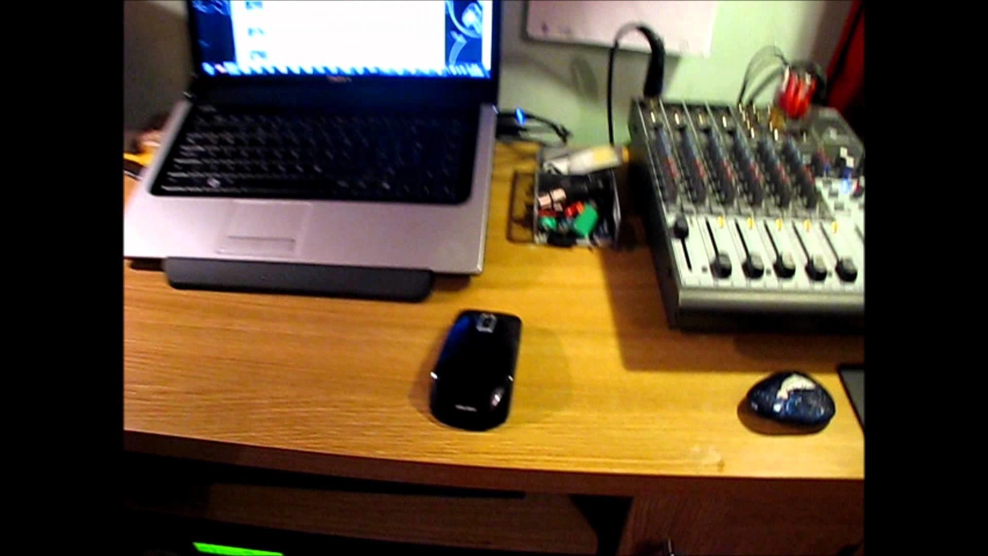 bedroom recording studio on