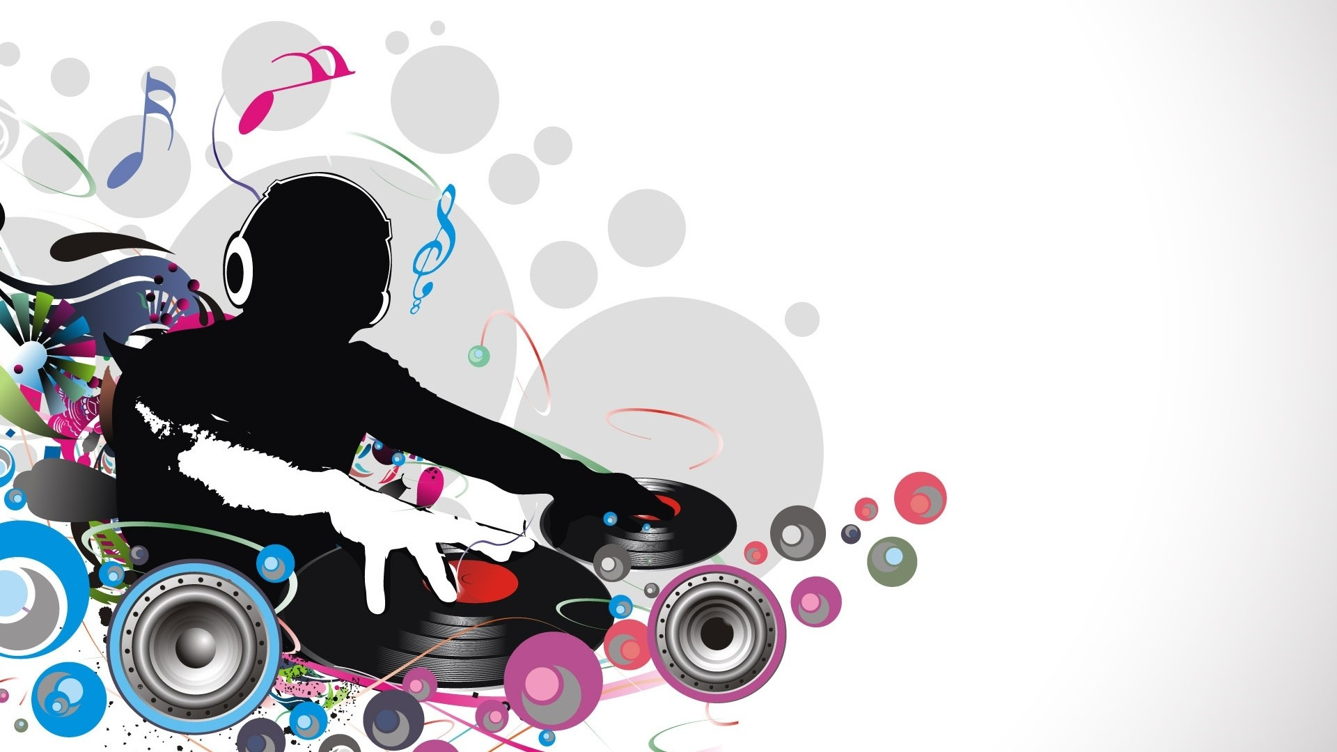 Preview wallpaper dj, record, music, lovers 1920×1080