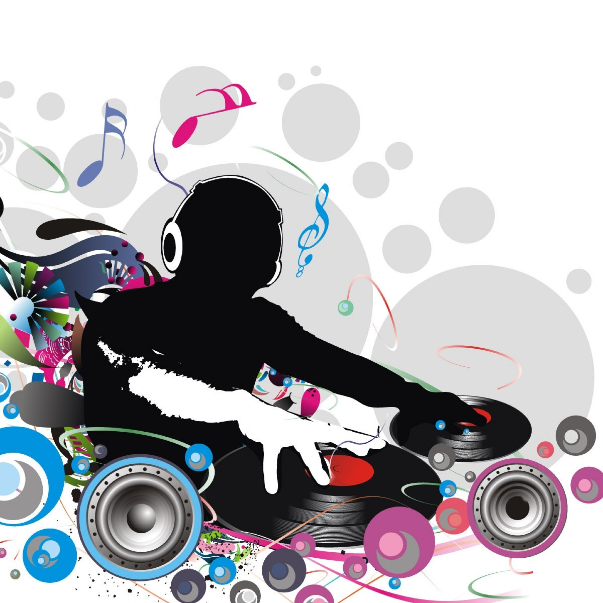 Preview wallpaper dj, record, music, lovers 2048×2048