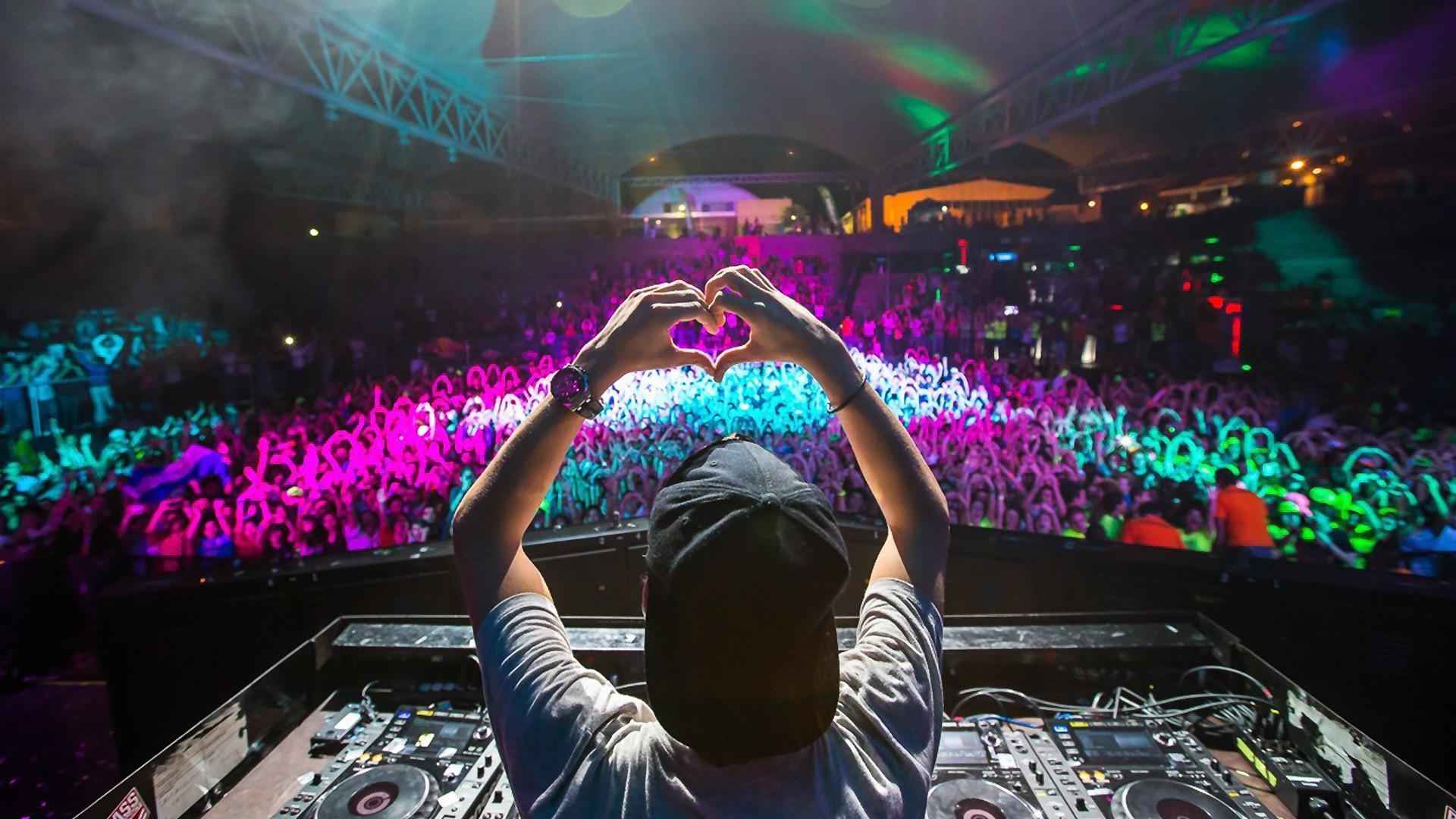 Avicii, DJ, Heart, Crowd