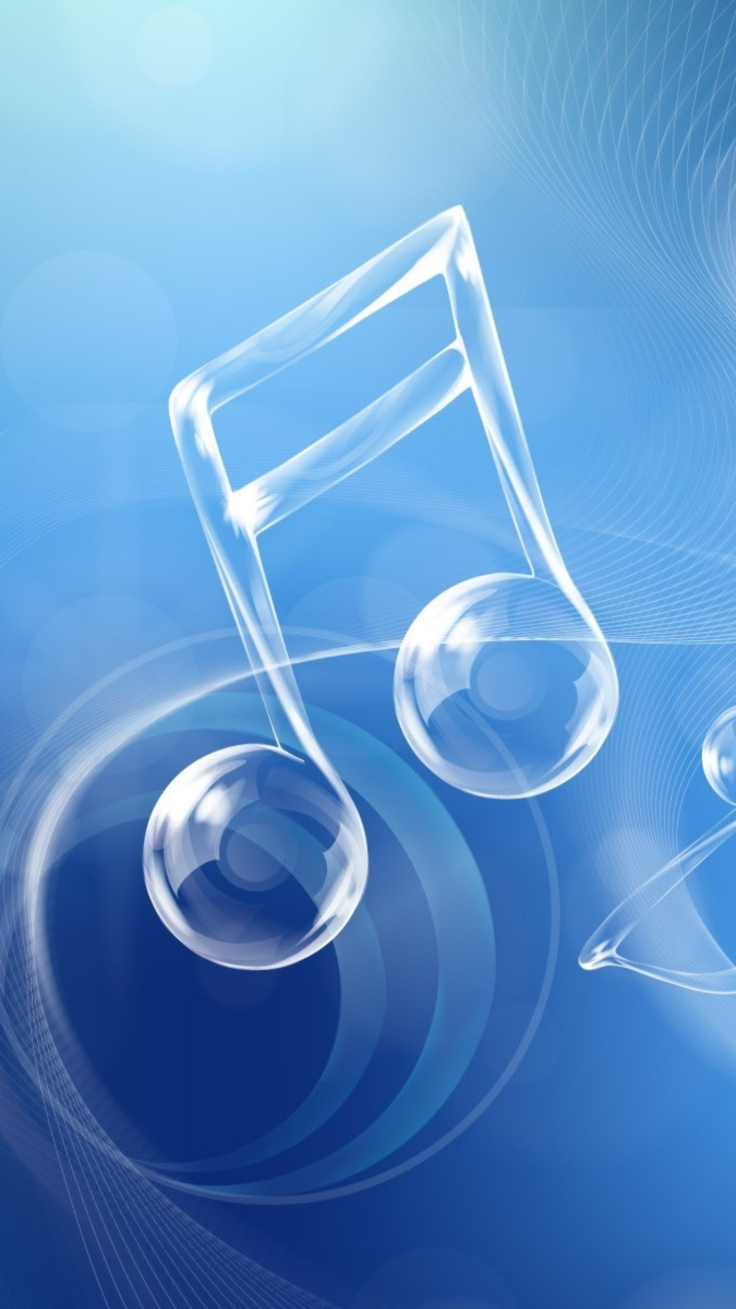 Wallpaper blue, white, music, shapes