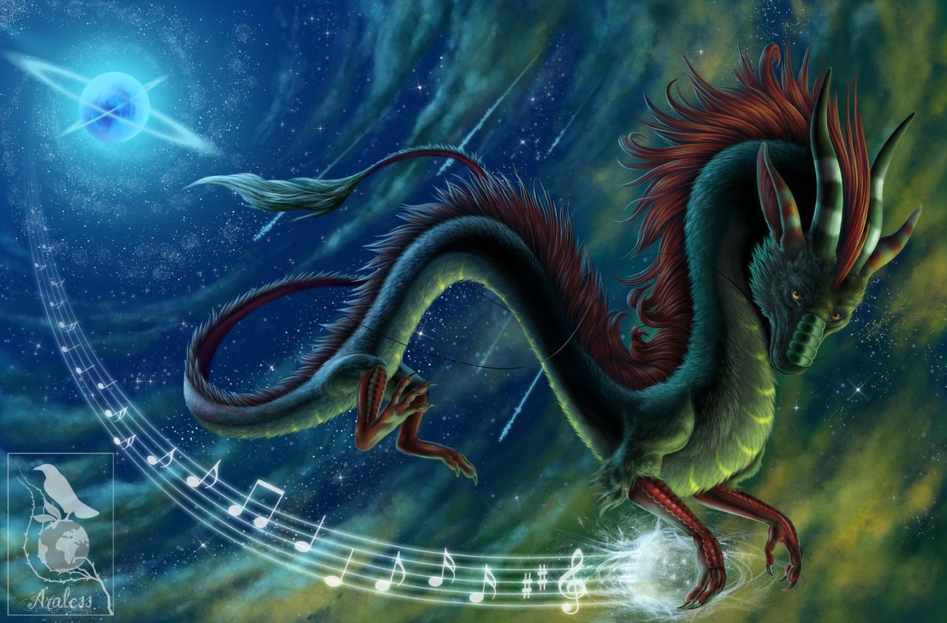 dragon music notes oriental dragon chinese dragon night star