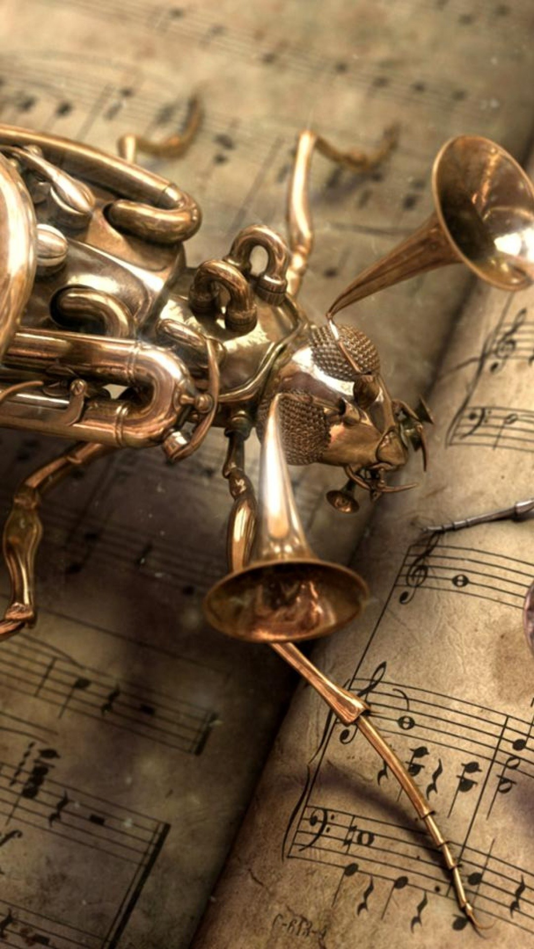 Musical Bug Steampunk iPhone 6 Plus HD Wallpaper