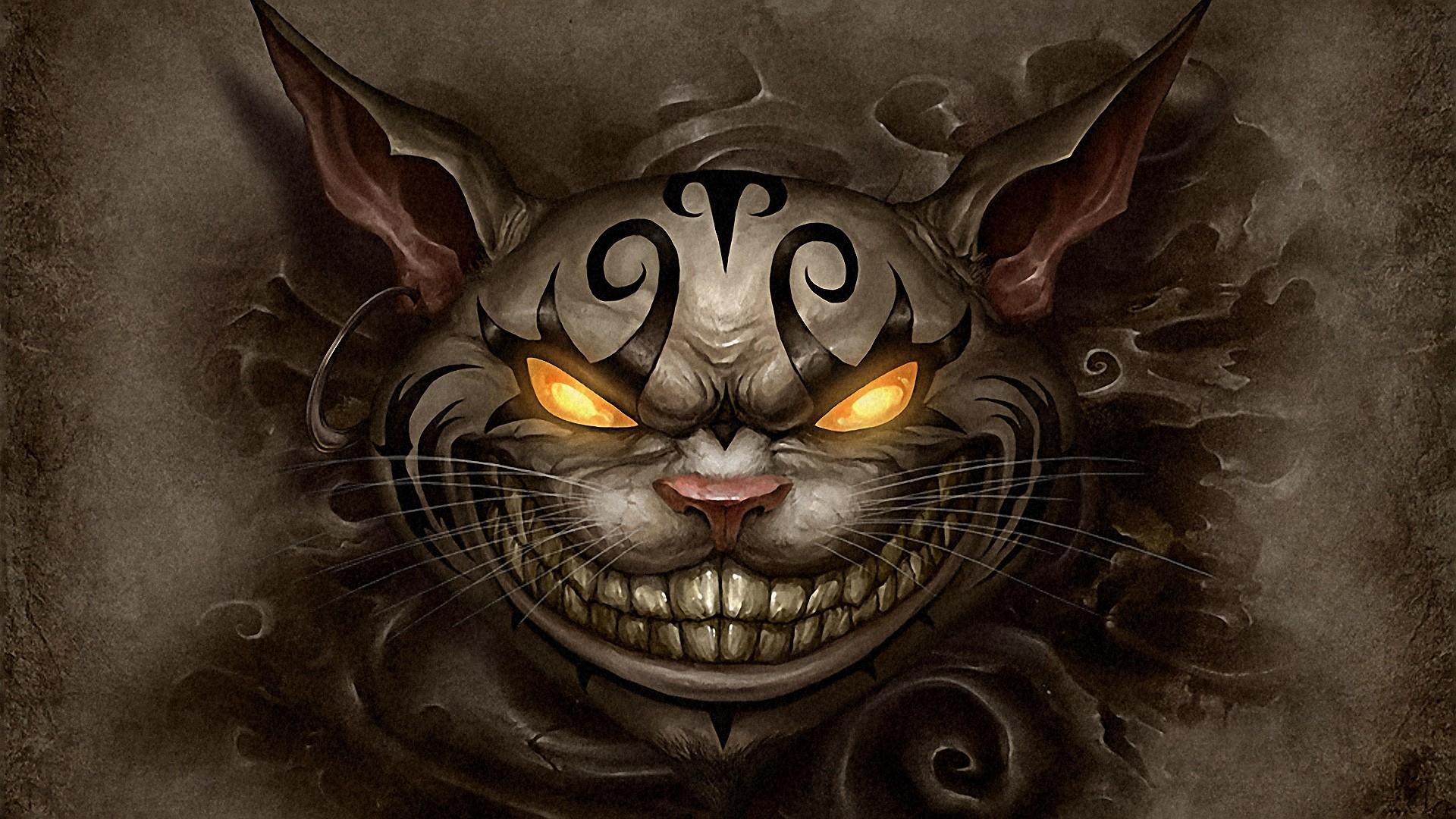 alice madness returns, cheshire cat, smile