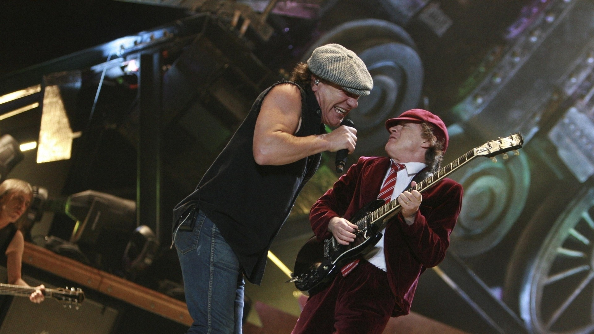 Wallpaper acdc, group, scene, solo, guitar-player