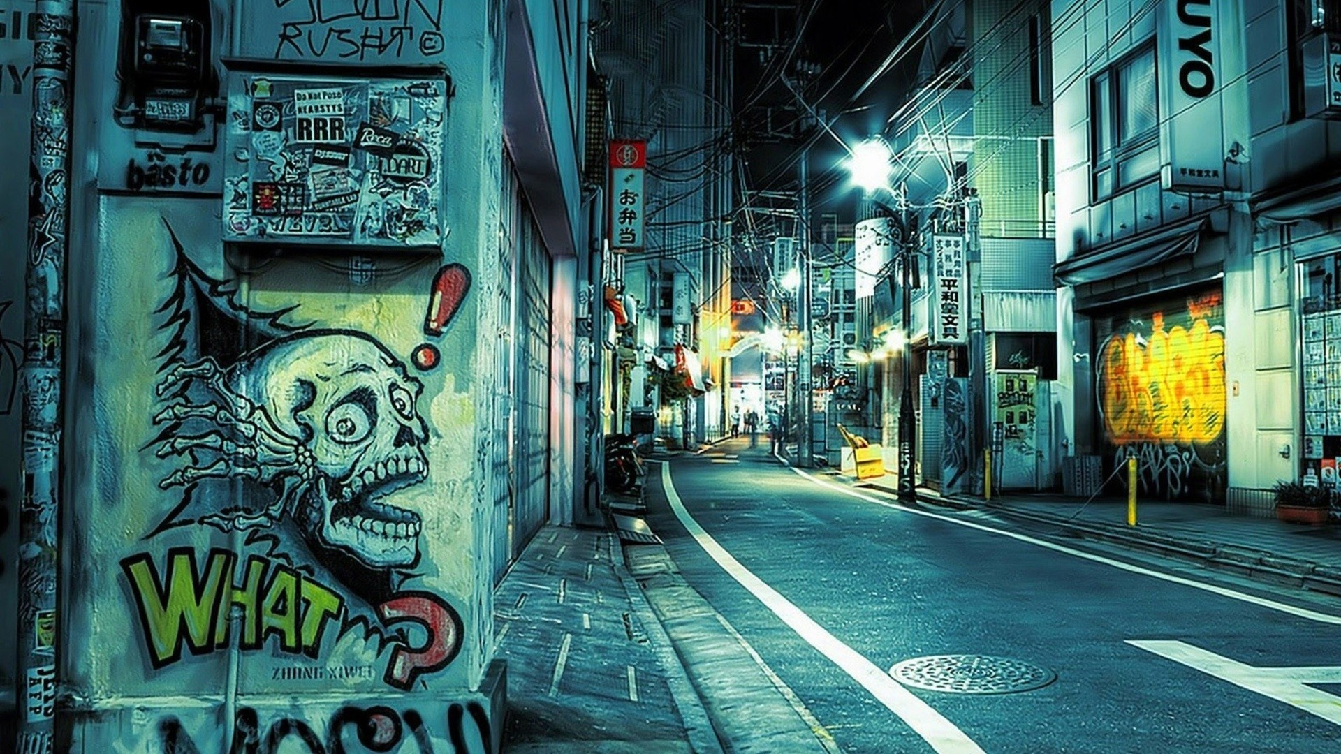 Street Art, Graffiti, Night City, Street, Hip Hop, Rap Culture,