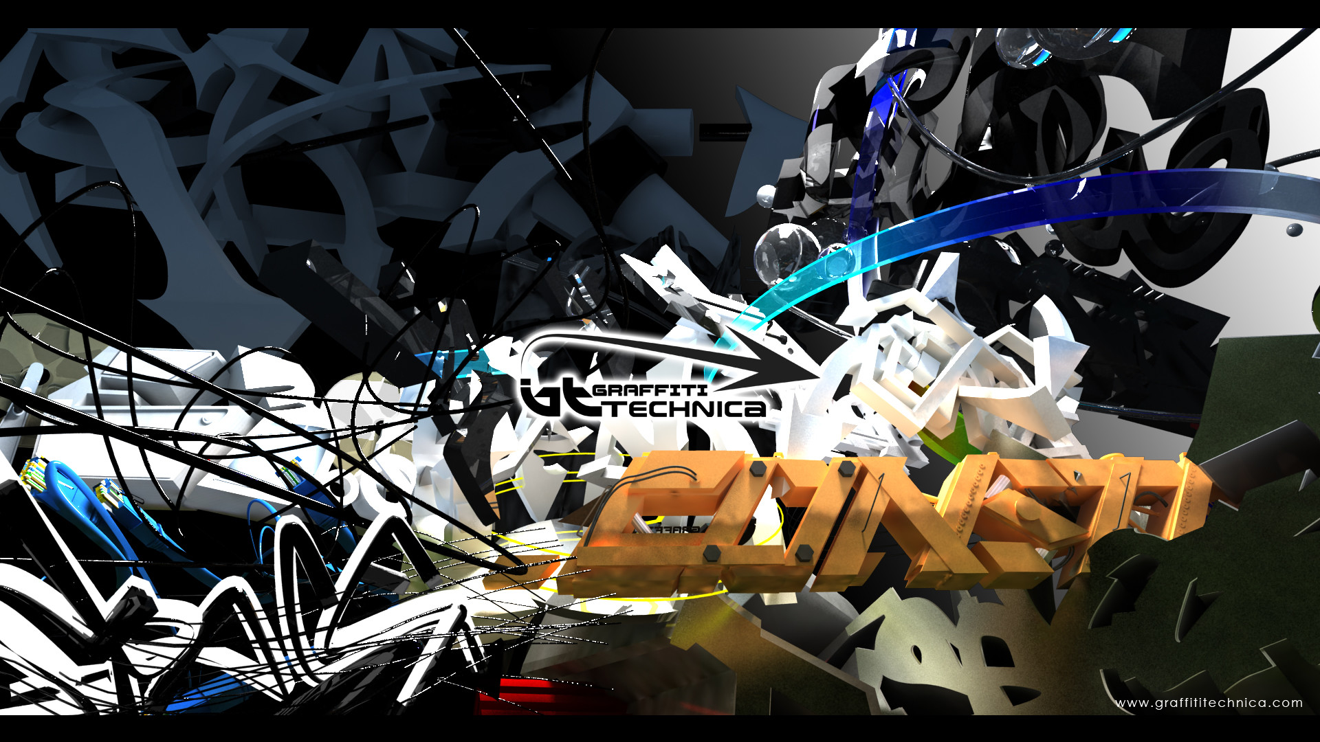Description: Graffiti 3D wallpaper is a hi res Wallpaper for pc .