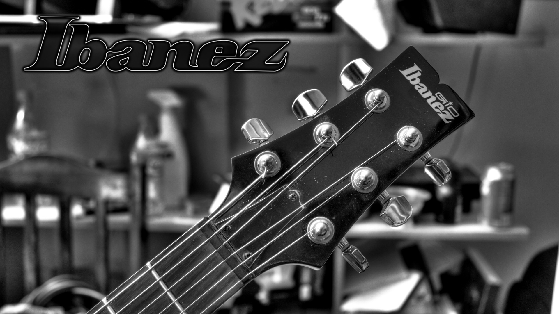Black And White Ibanez Guitar Picture 4756