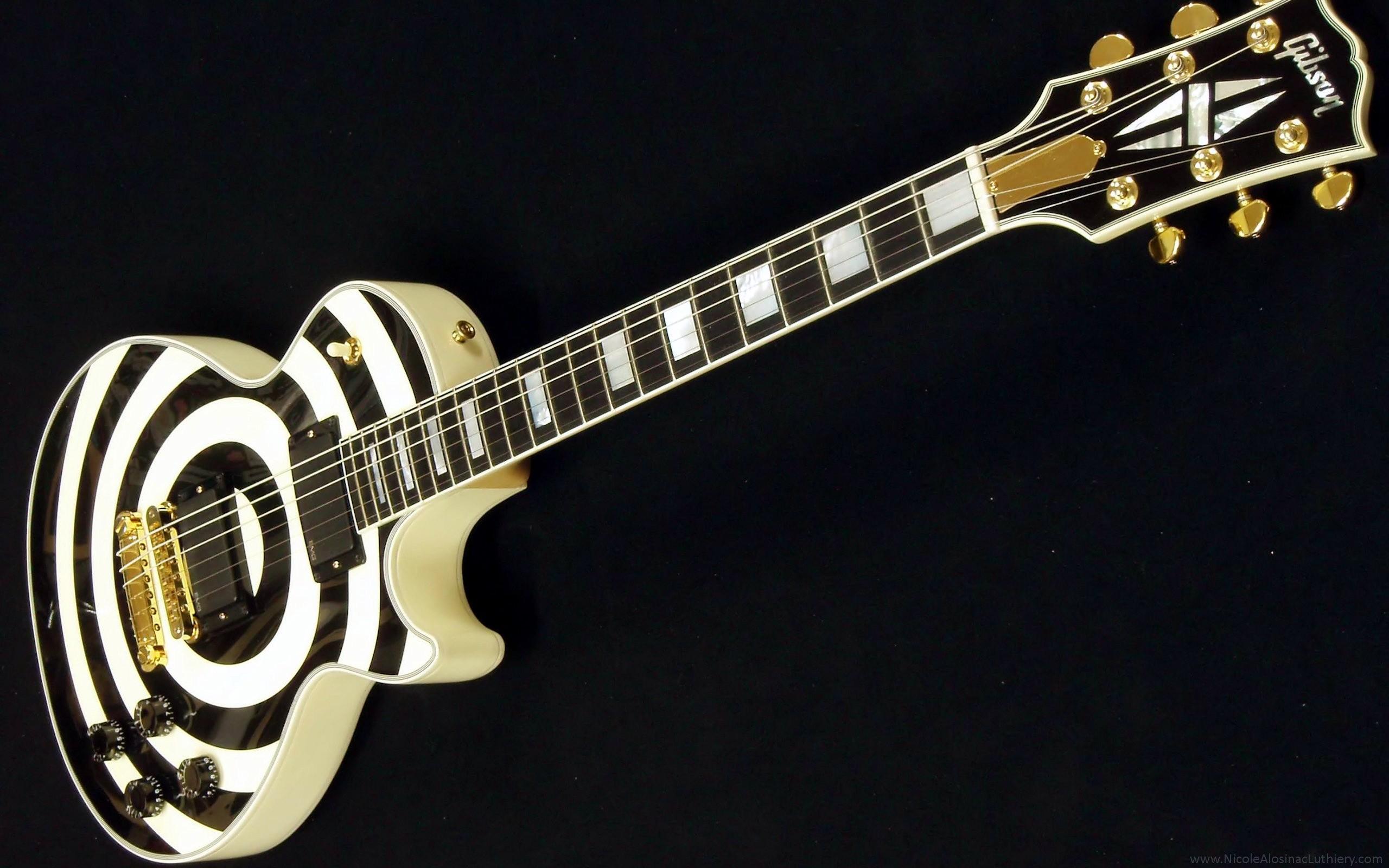 Gibson Zakk Wilde Les Paul Guitar Wallpaper 2560×1600