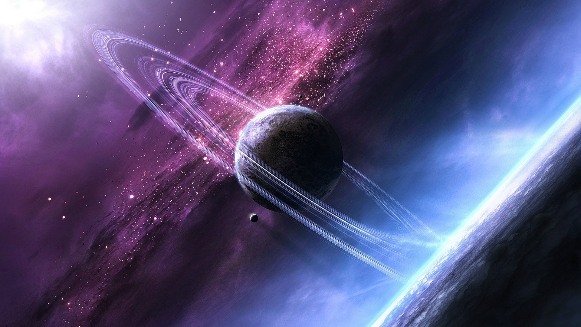 Planets in the solar system have planets such as Jupiter, Saturn, Uranus,  and neptune.