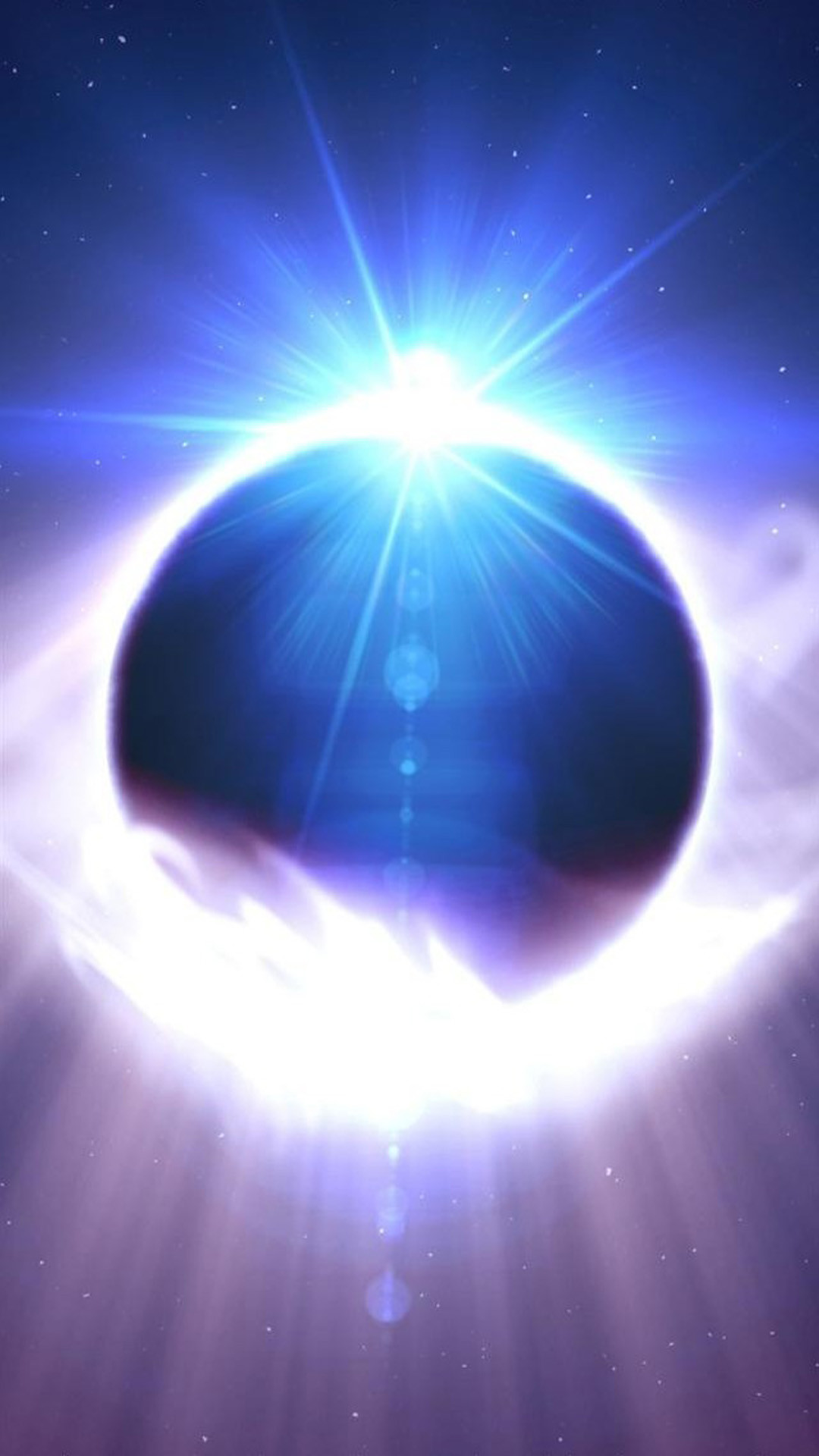 Space Solar Eclipse iPhone 6 wallpaper