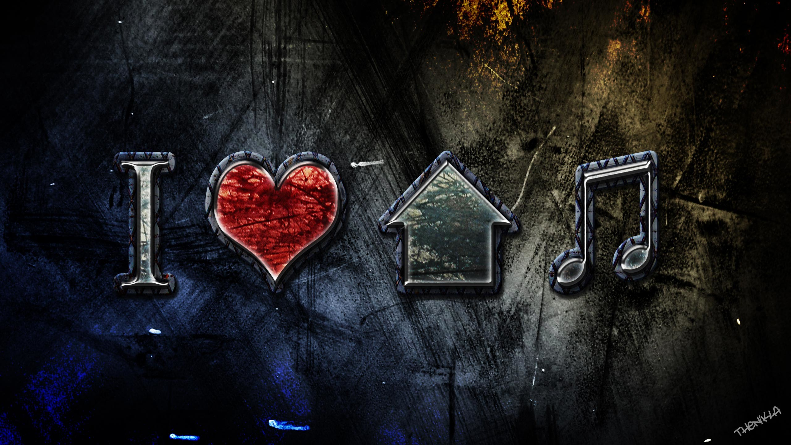 I Love House Music Wallpapers – Wallpaper Zone