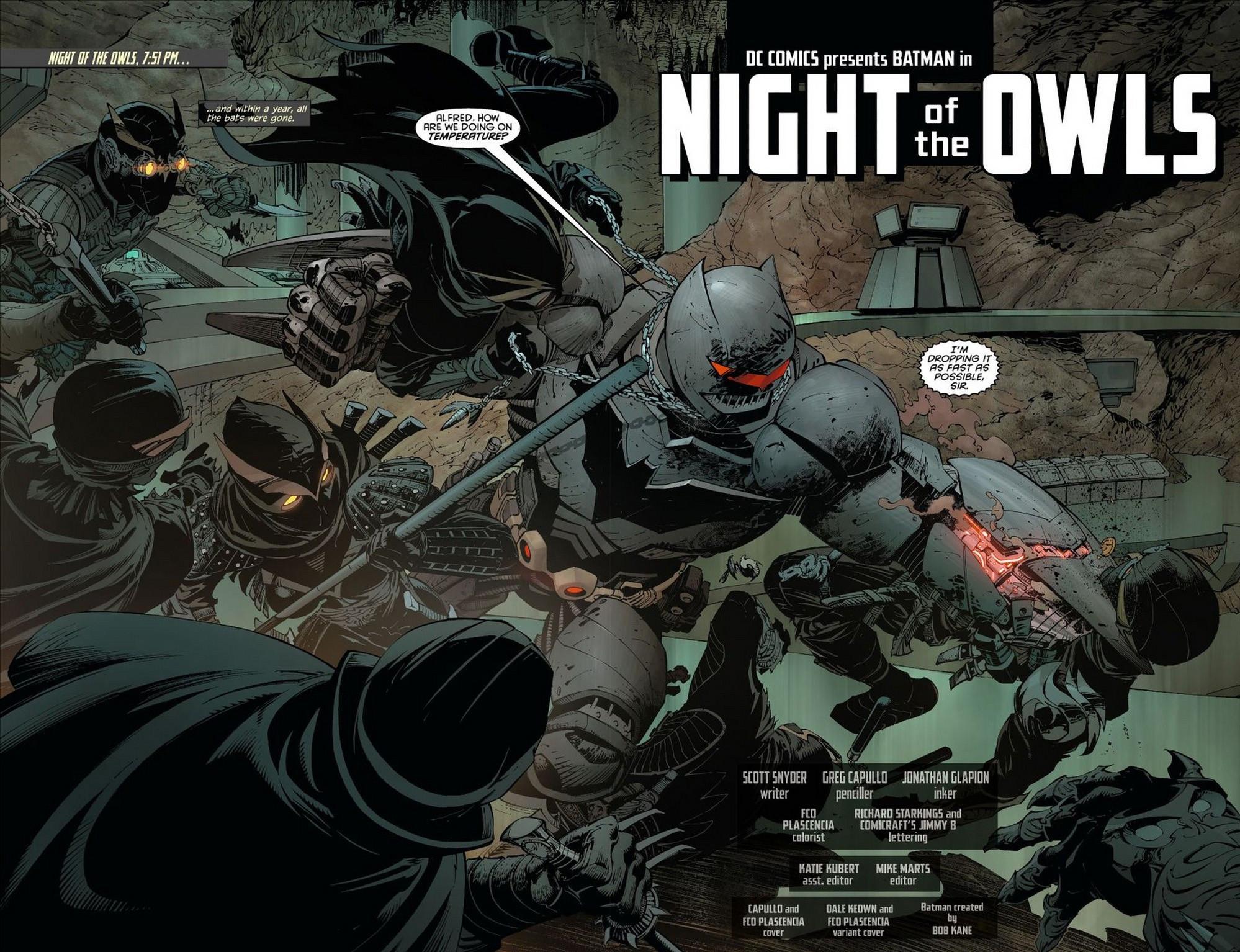 batman's court of owl armor vs talons …
