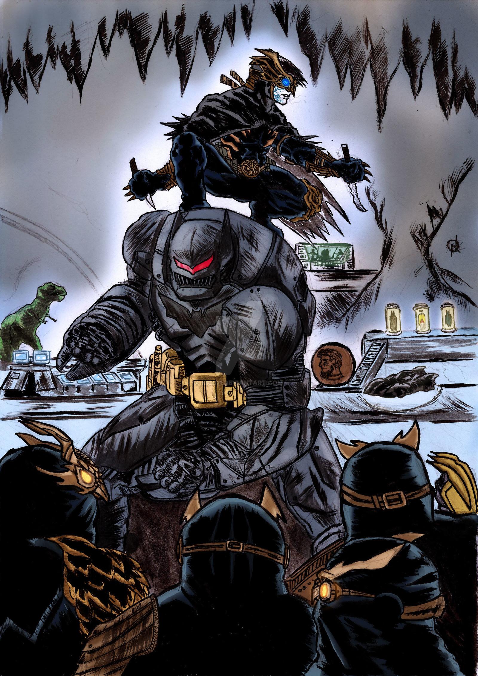 … Batman Grayson Vs Court Of Owls colors by nic011