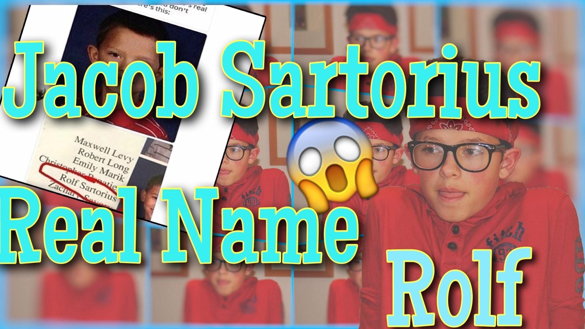 Jacob Sartorius Real Name…Rolf?