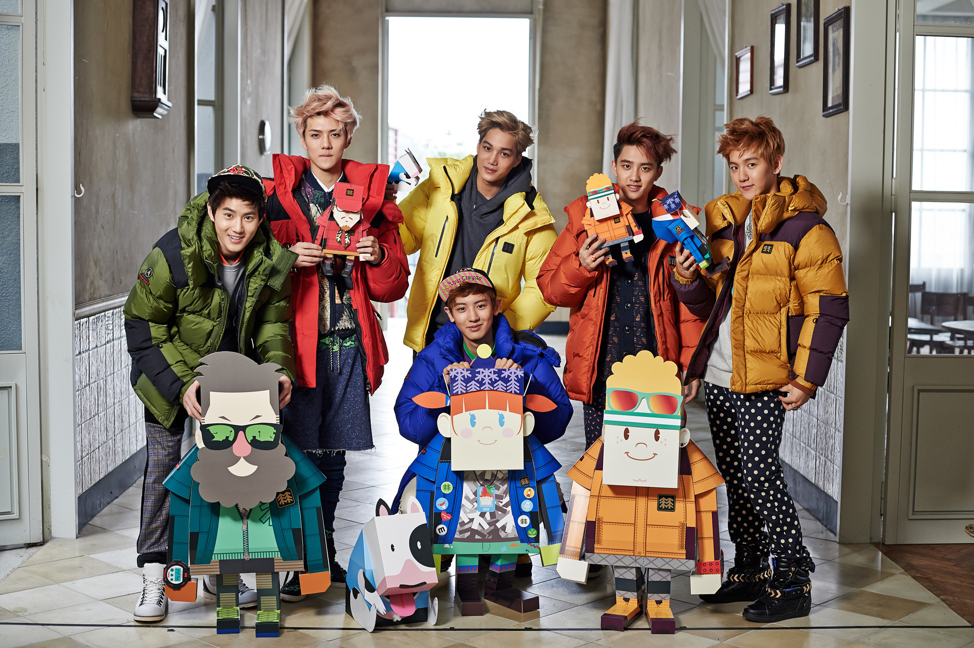 Check this best kpop EXO-K New CF Winter Style HD Wallpaper korean wallpaper  hd quality.