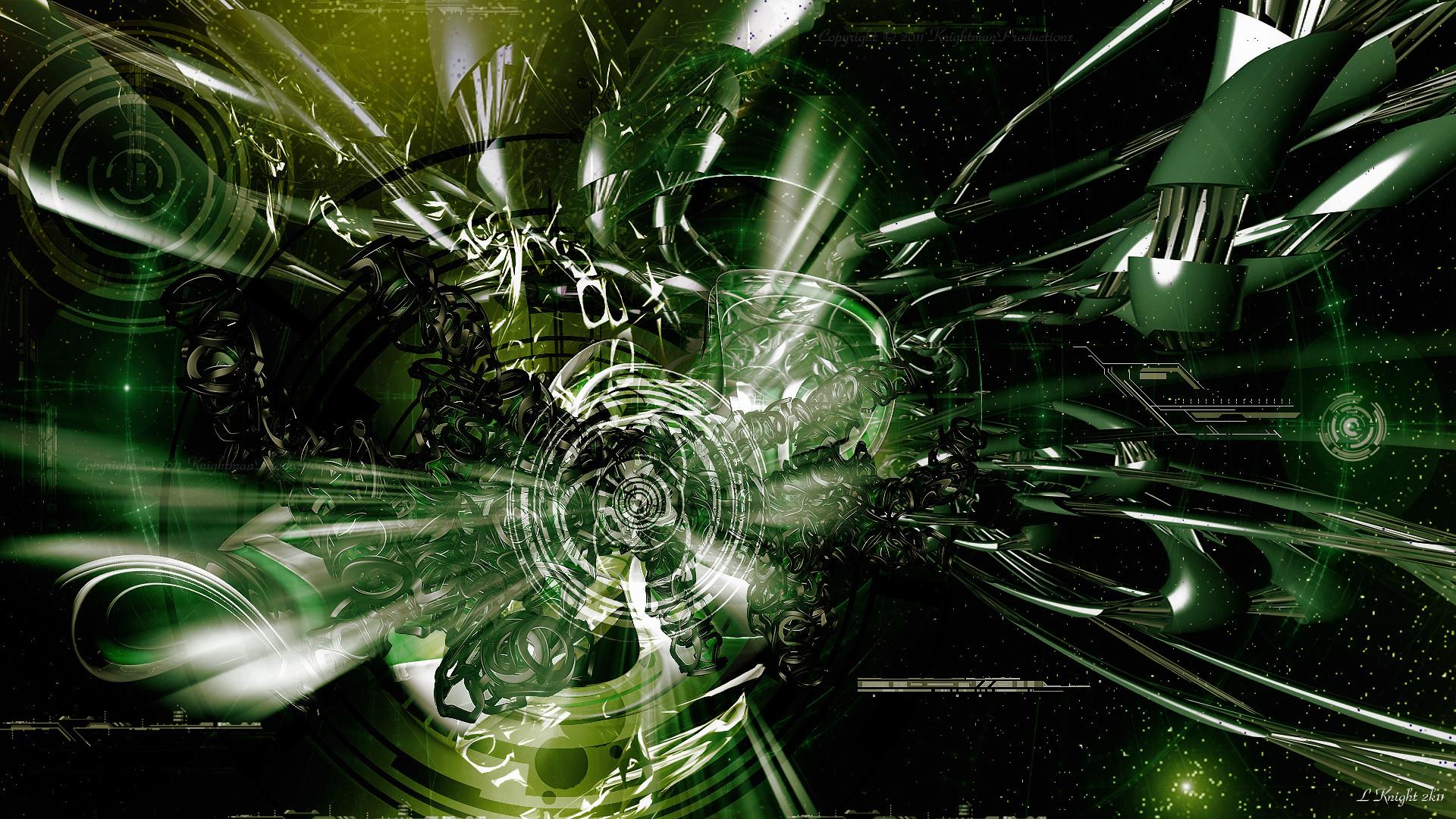 Techno Wallpaper Green