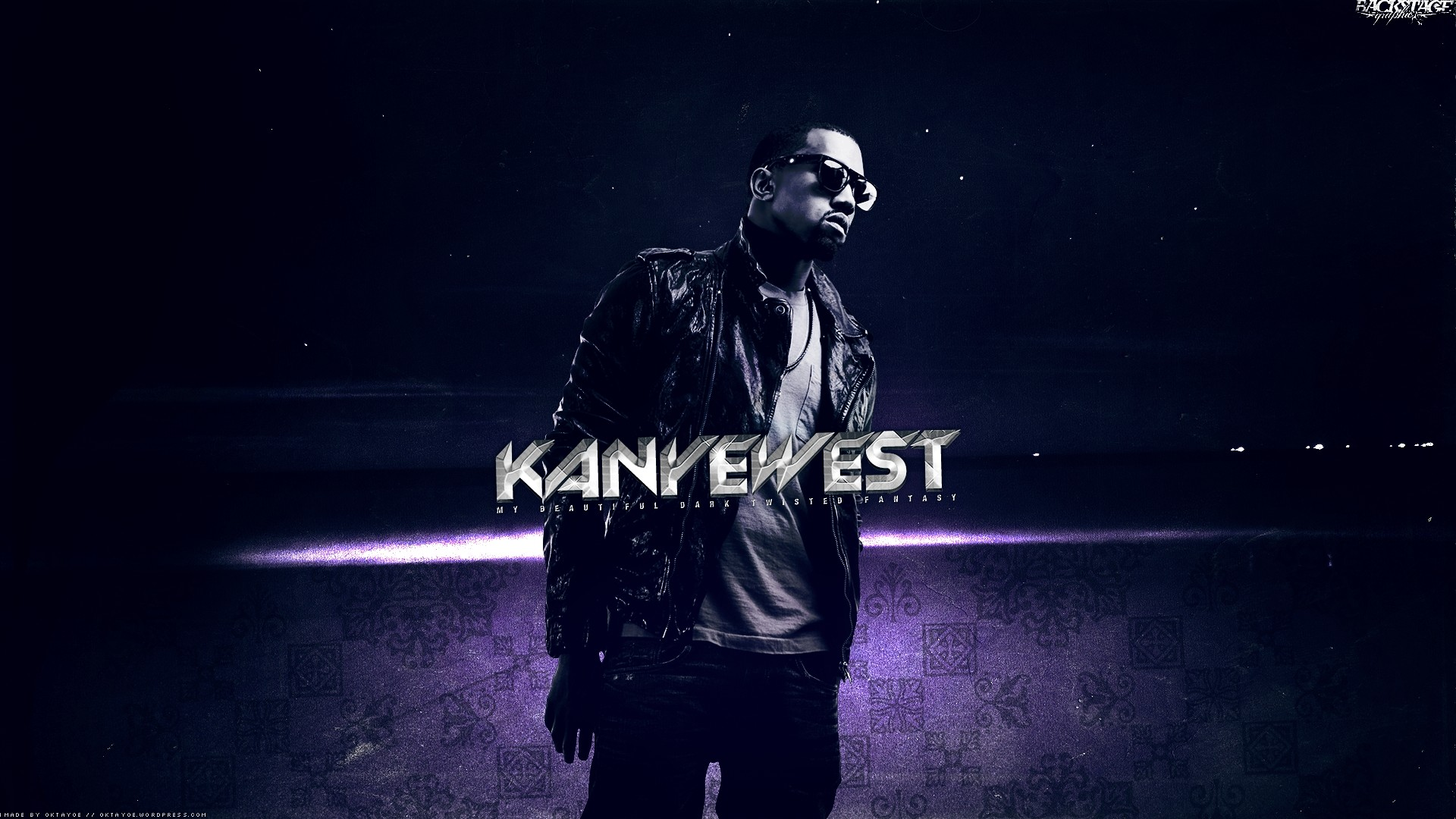 Preview wallpaper kanye west, jacket, glasses, look, space 1920×1080