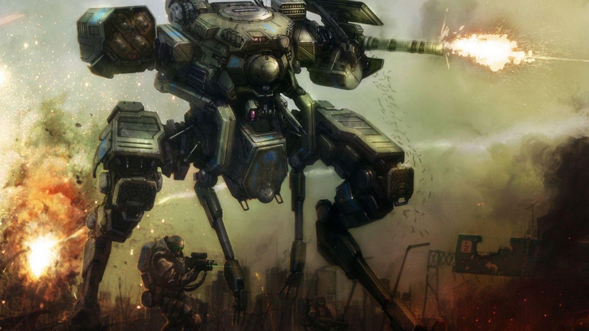 artwork, Fantasy Art, Mech, Robot, Soldier, War, Concept Art