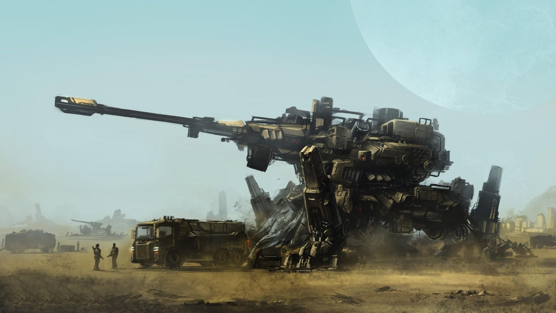 artwork, Concept Art, War, Soldier, Futuristic, Mech Wallpapers HD / Desktop  and Mobile Backgrounds