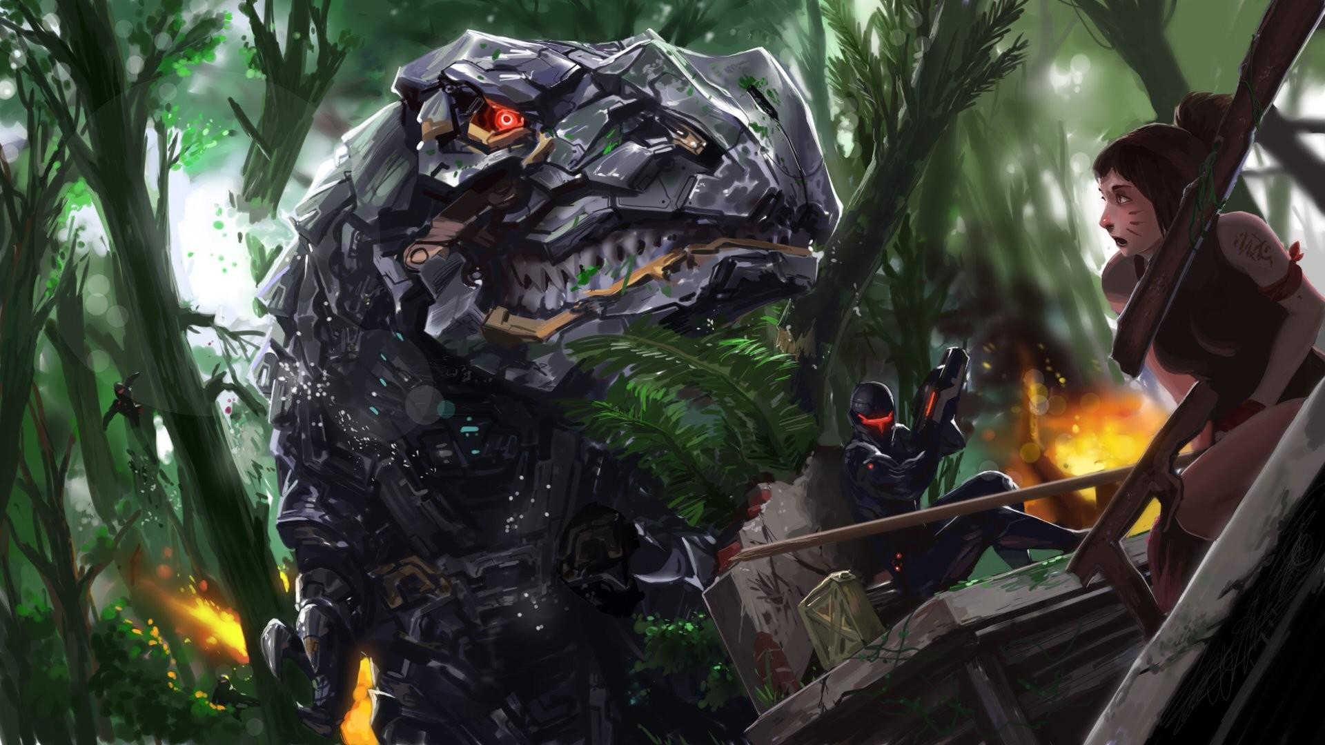 Sci Fi – Mech Dinosaur Robot Wallpaper