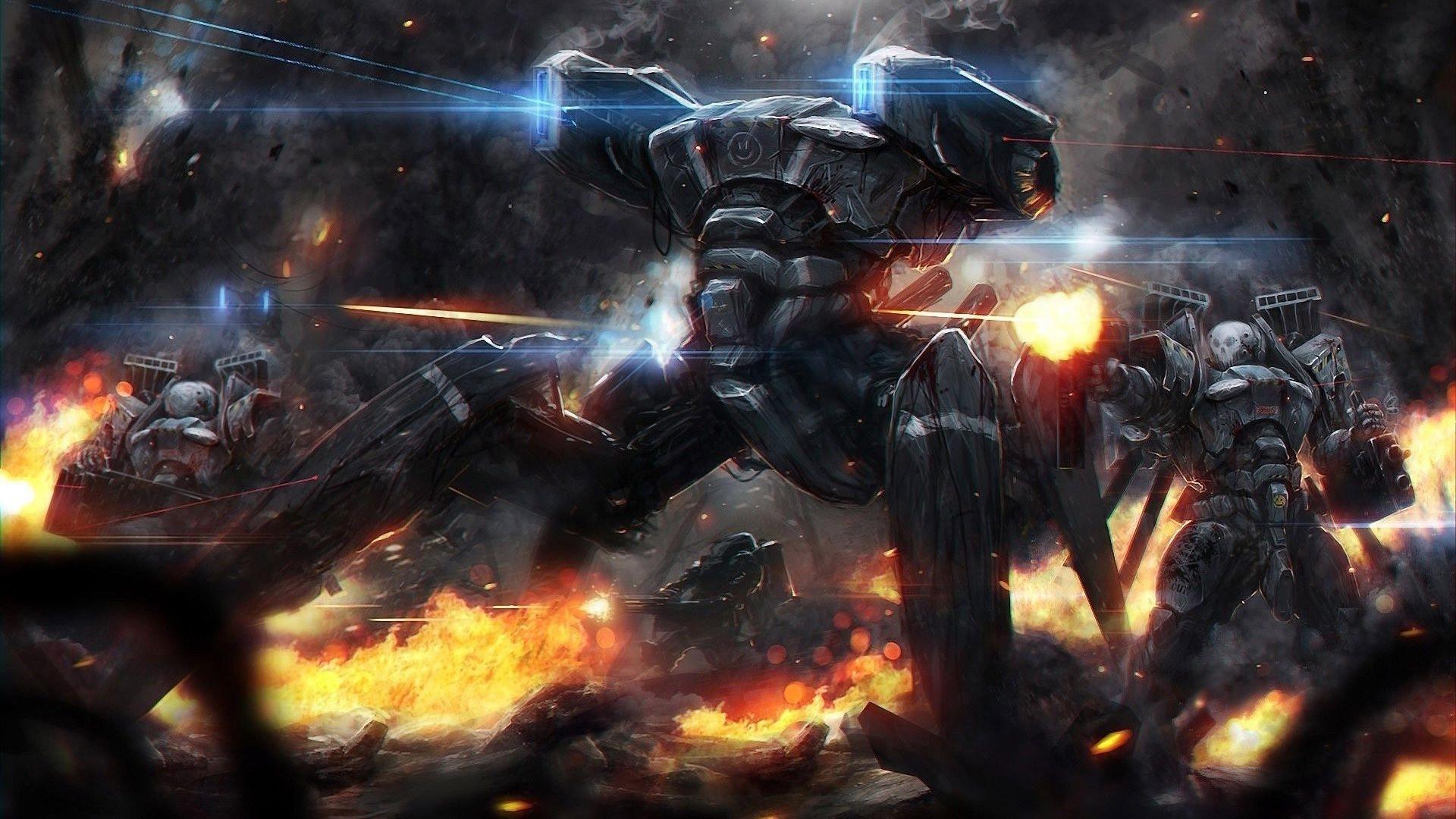 robot, Mech, Artwork, War, Destruction, Fantasy Art, Concept Art, Soldier Wallpapers  HD / Desktop and Mobile Backgrounds