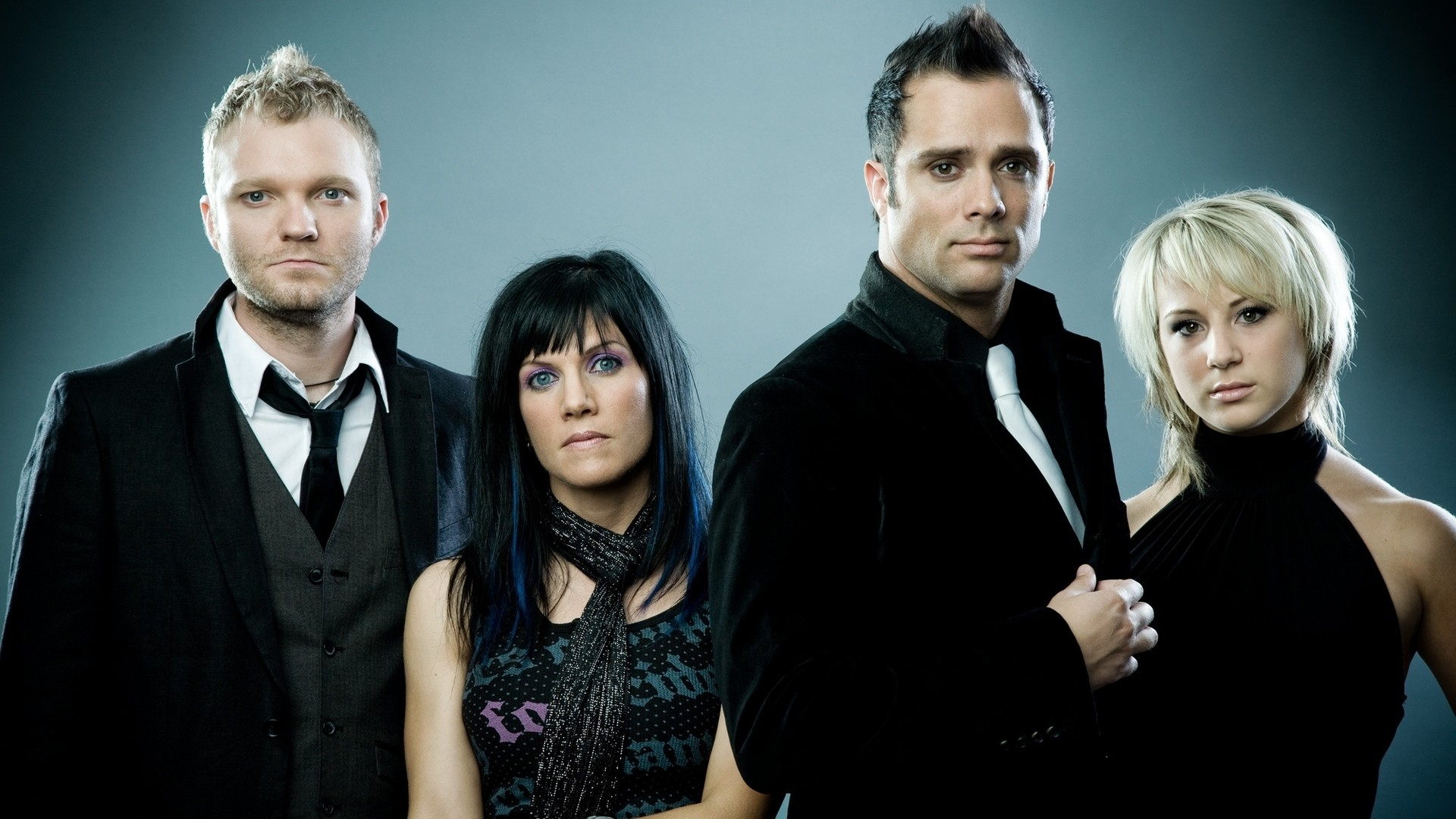 Preview wallpaper skillet, band, members, background, look 1920×1080