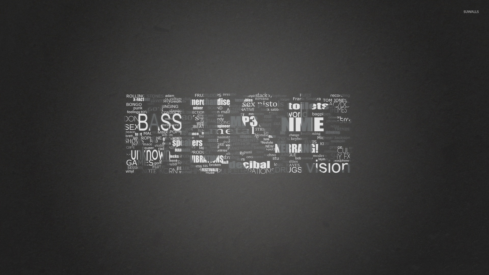 Black and white music genres wallpaper jpg