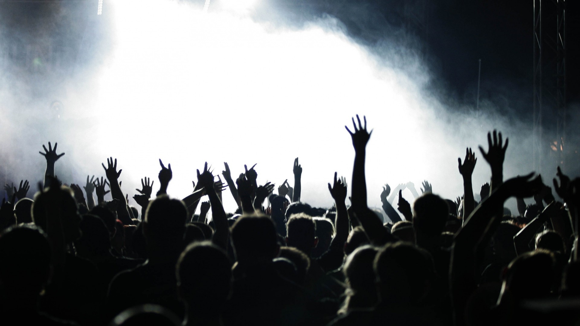 Download Wallpaper people, hands, concert, music, crowd Full HD  1080p HD Background