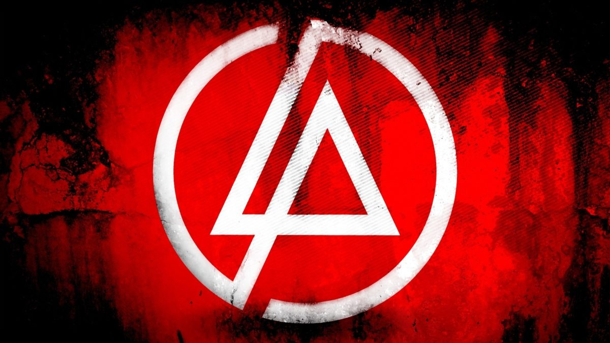 Preview wallpaper linkin park, symbol, background, triangle, circle  1920×1080