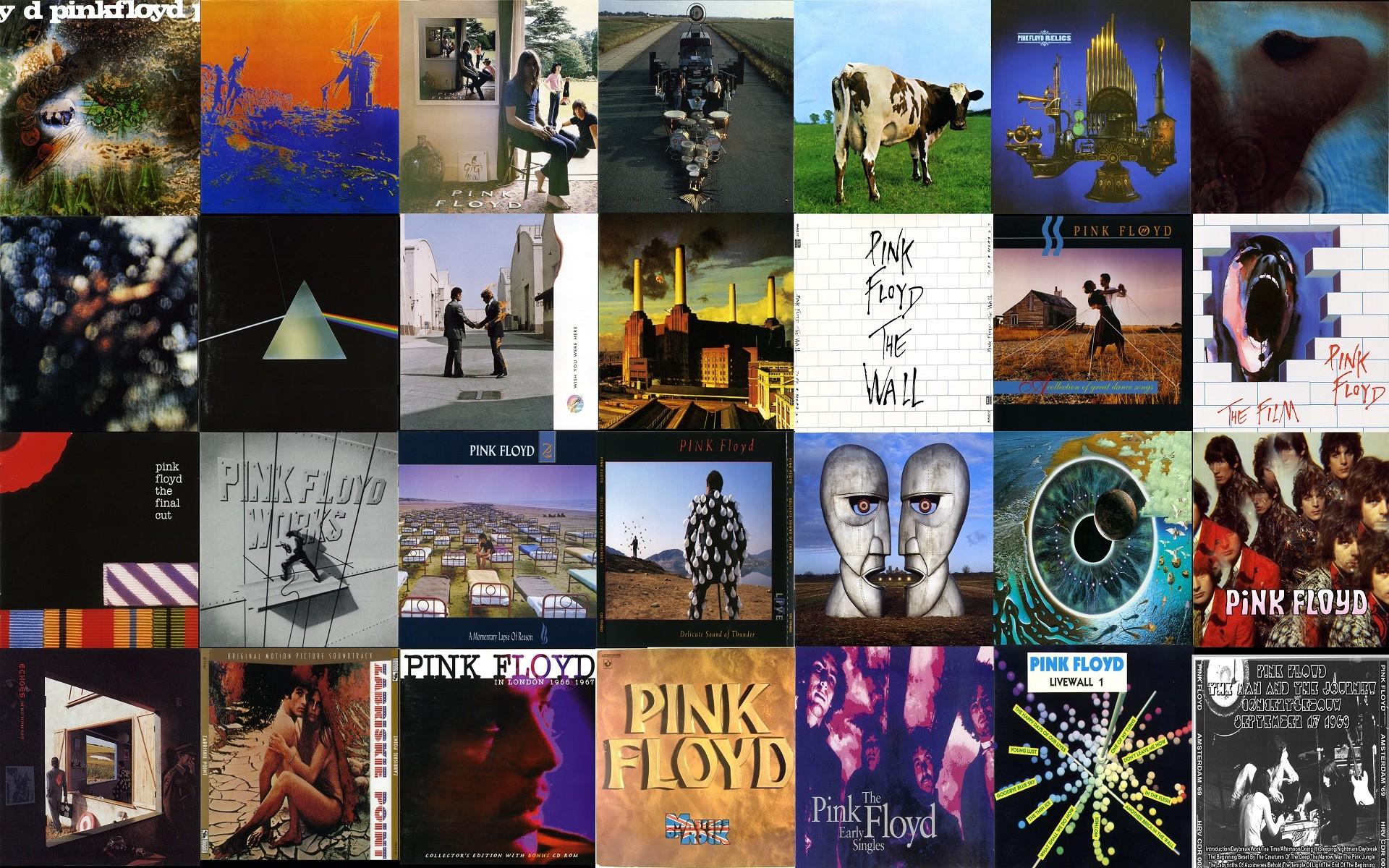Pink Floyd hard rock classic retro bands groups album covers logo .
