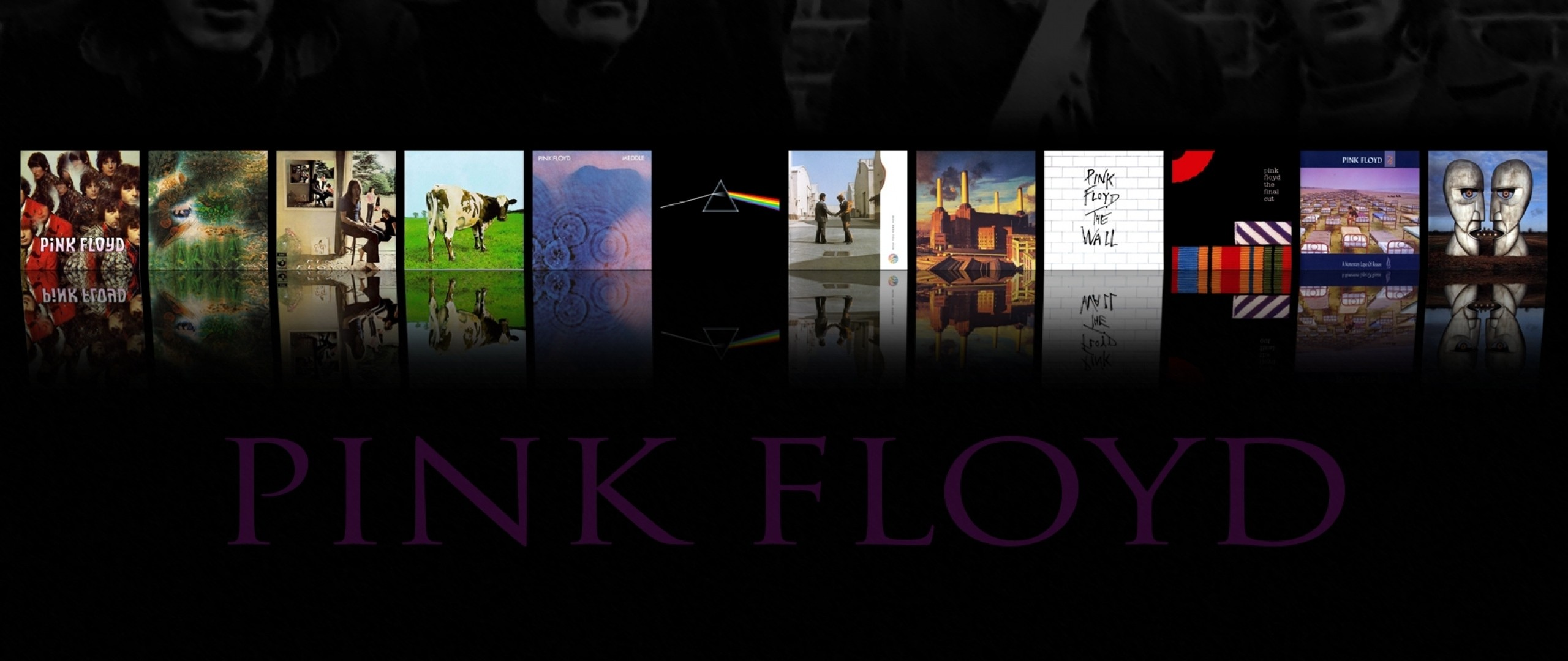 Preview wallpaper pink floyd, band, members, albums, name 2560×1080