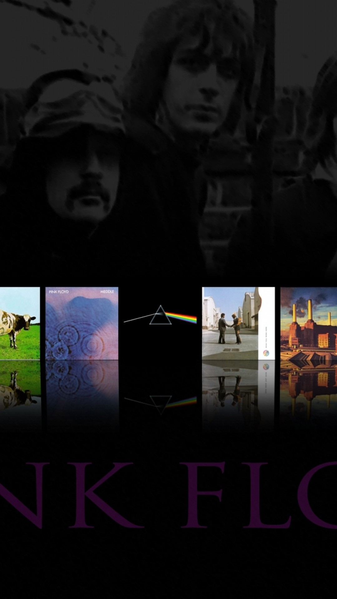 Wallpaper pink floyd, band, members, albums, name