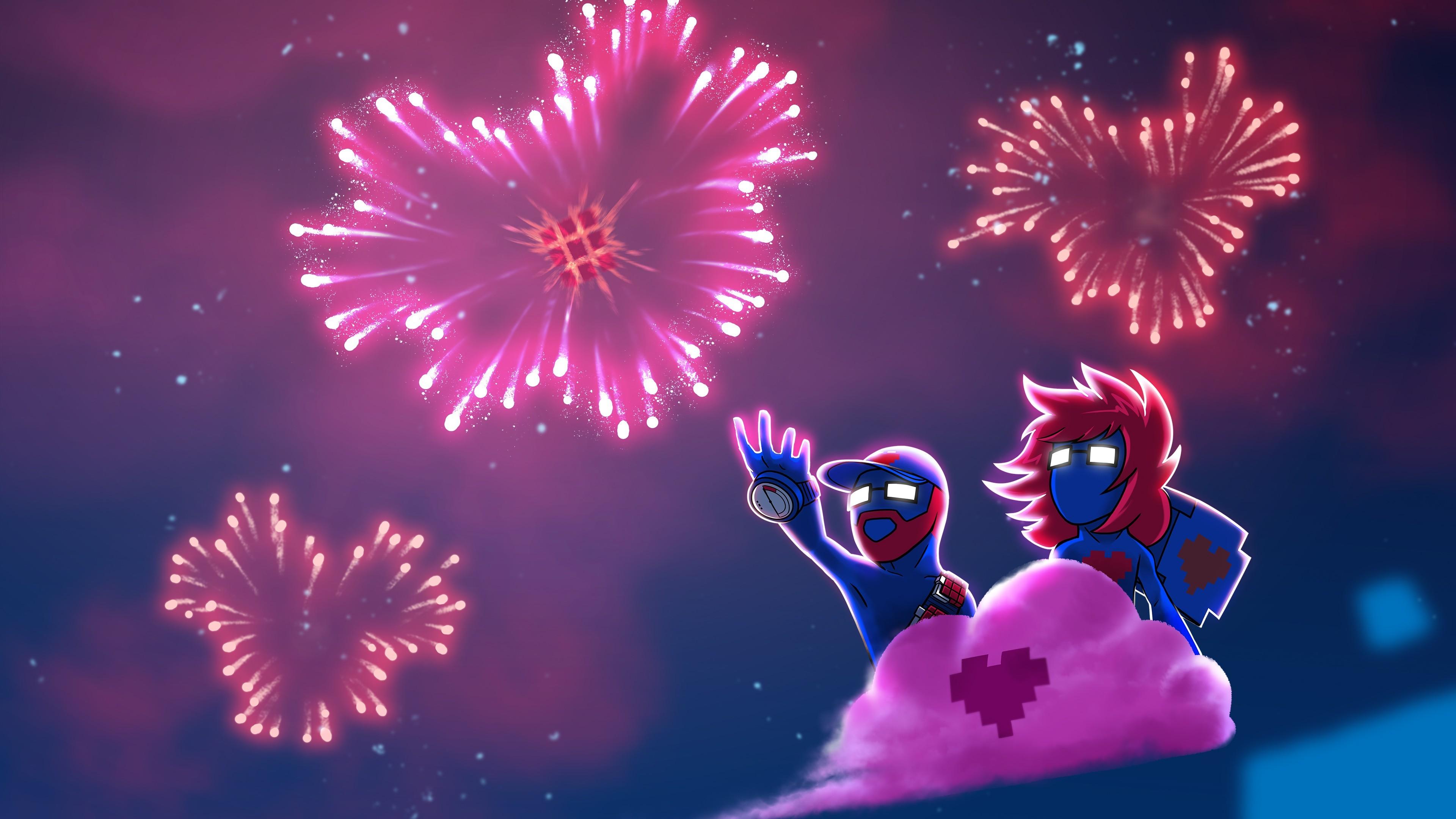 General Monstercat Pegboard Nerds fireworks clouds