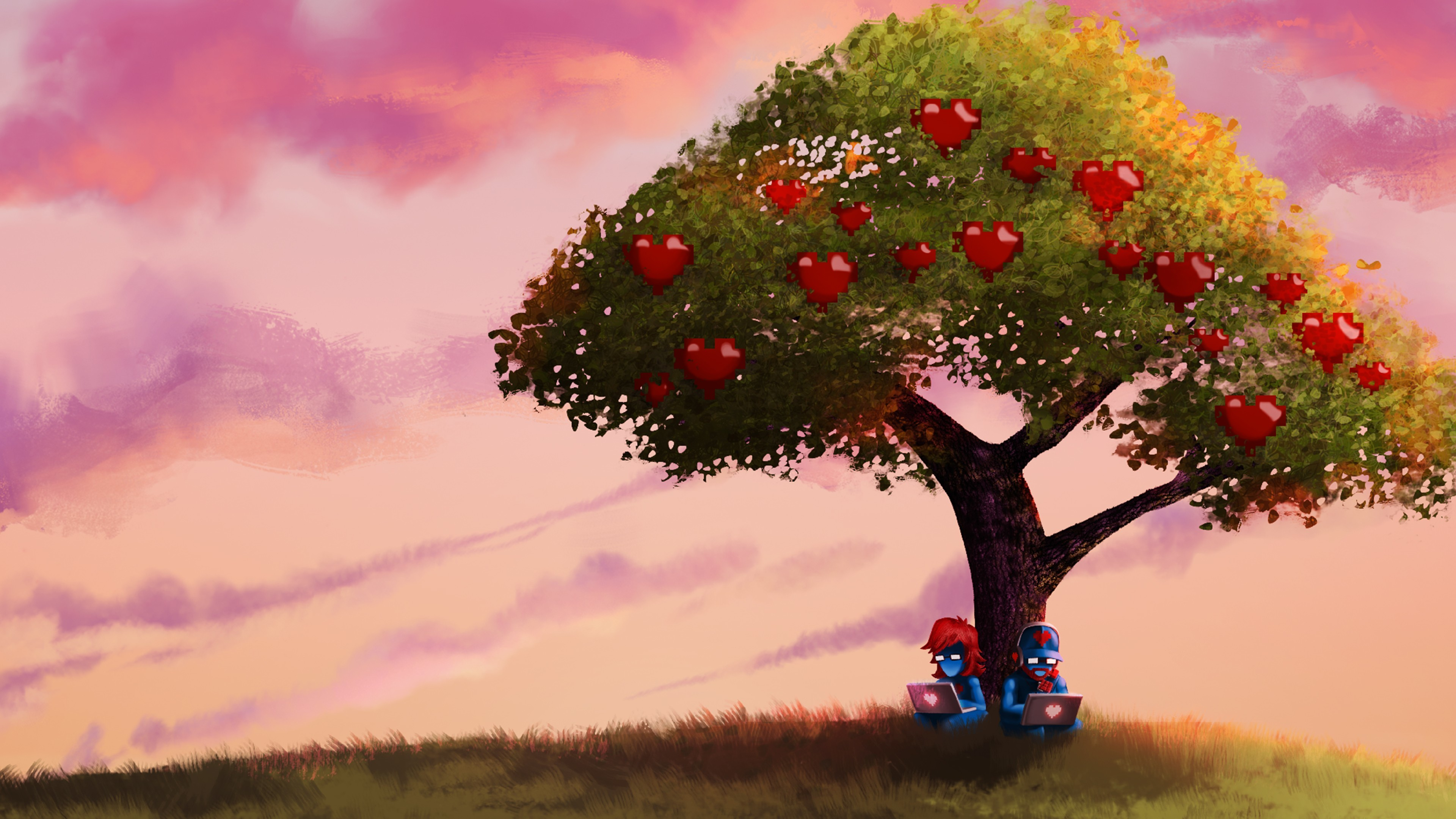 General Monstercat Pegboard Nerds trees sky fruit apples computer