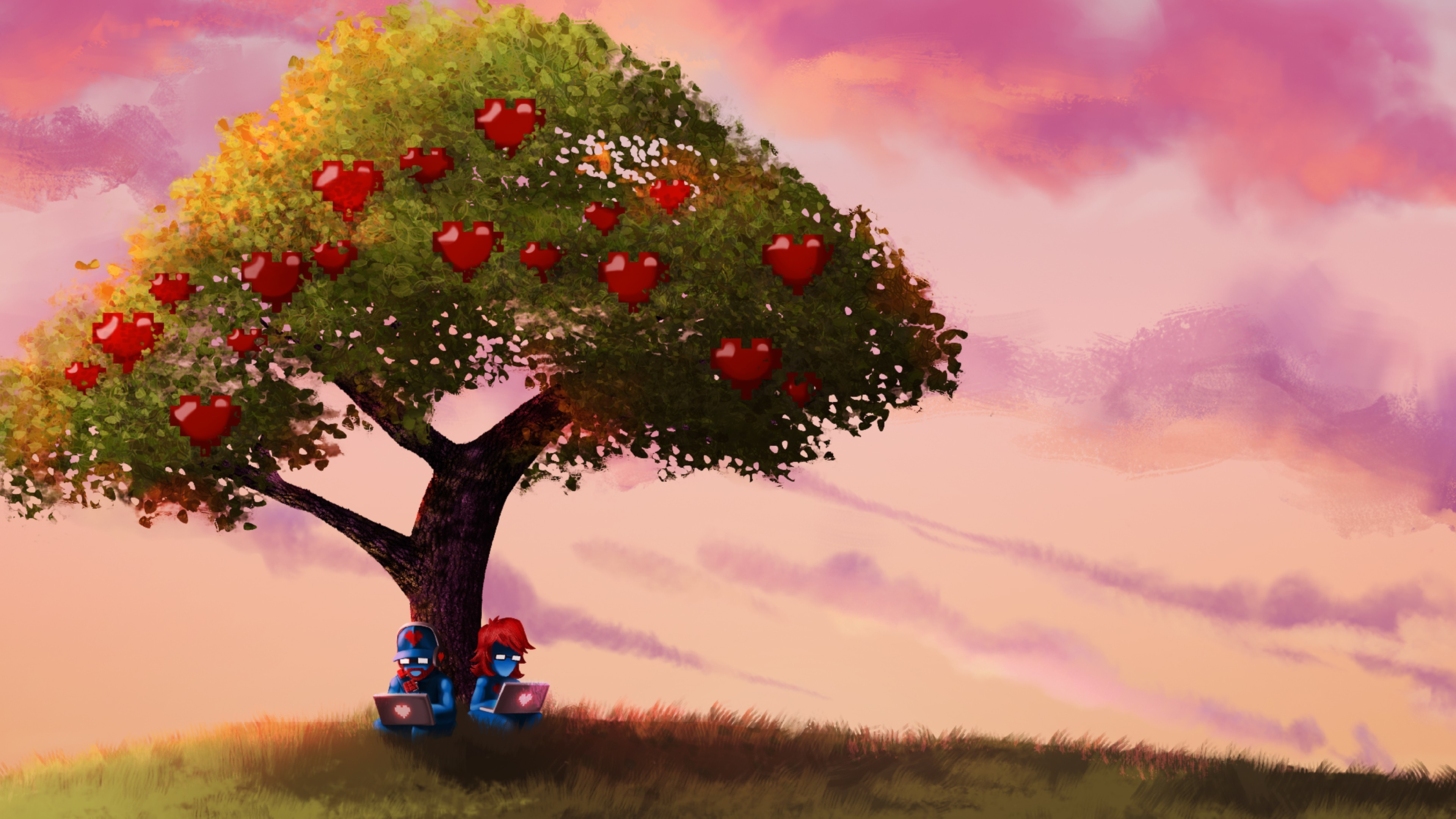 monstercat pegboard nerds trees sky fruit apples computer Wallpapers HD /  Desktop and Mobile Backgrounds