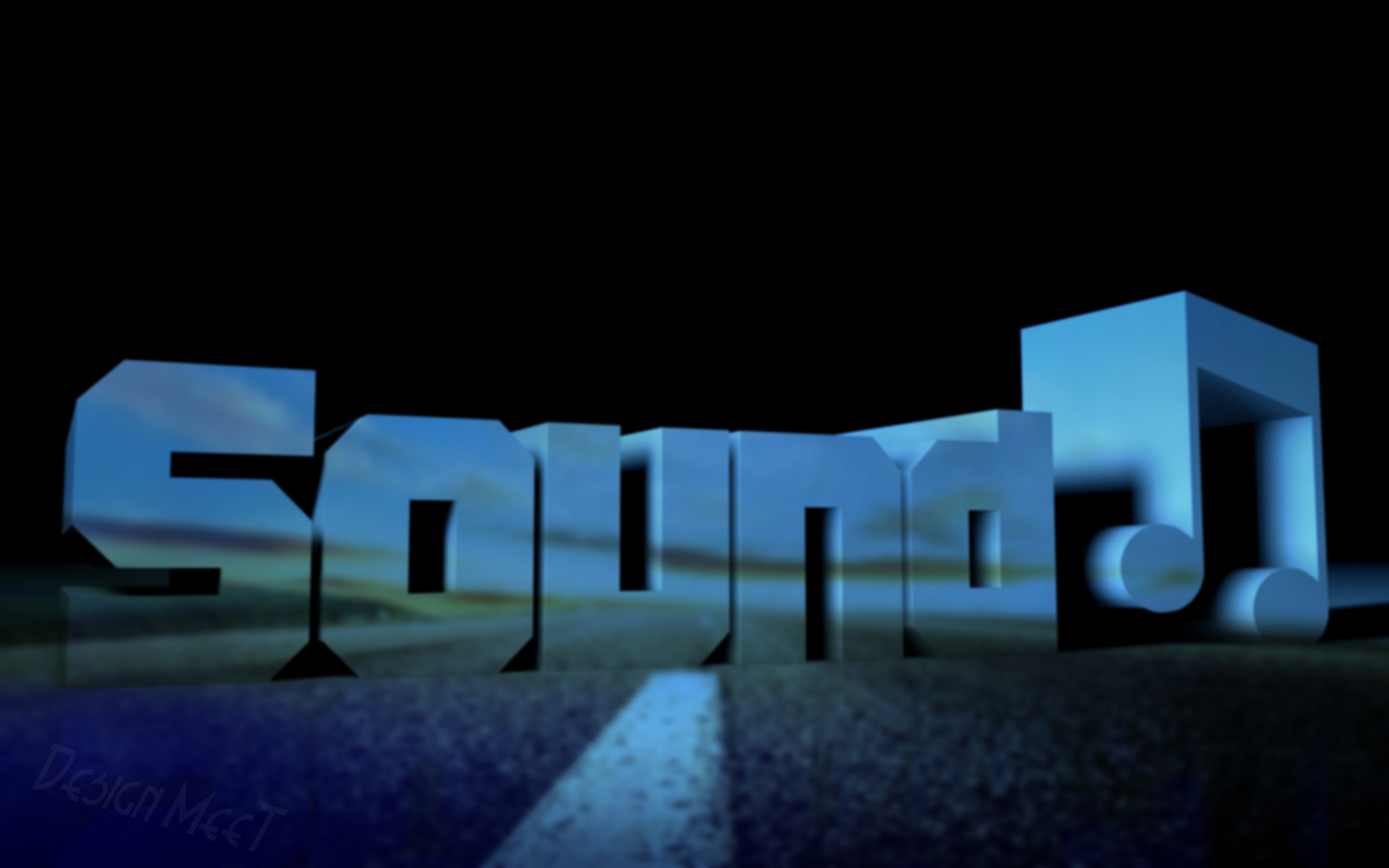 Sound Blue desktop PC and Mac wallpaper