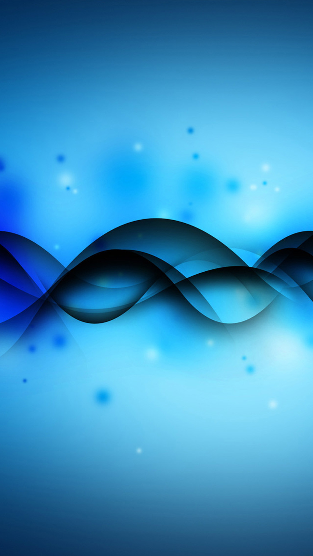 Blue sound waves Galaxy Note 3 Wallpaper