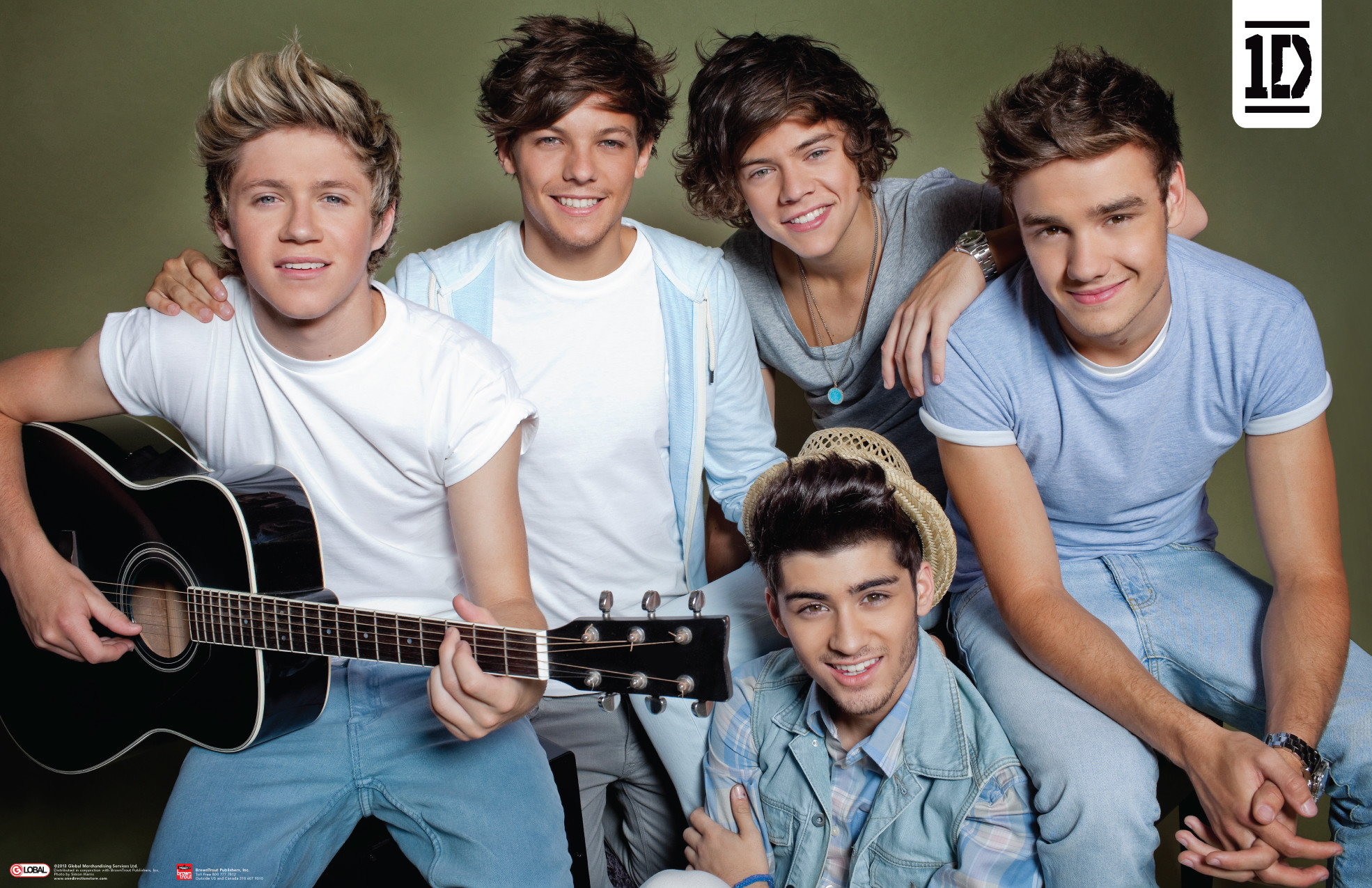 One Direction Guitar horizontal Poster